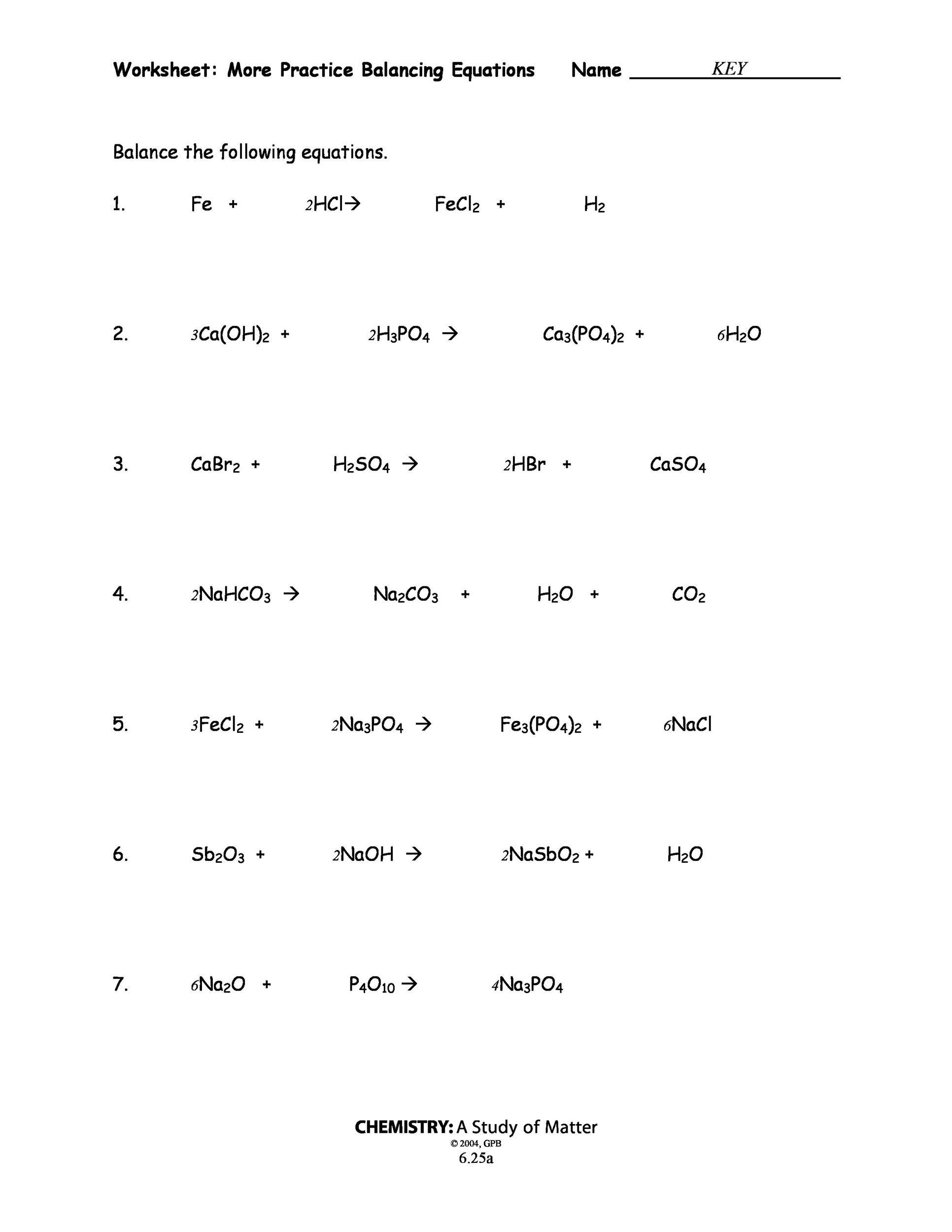Free balancing equations 25