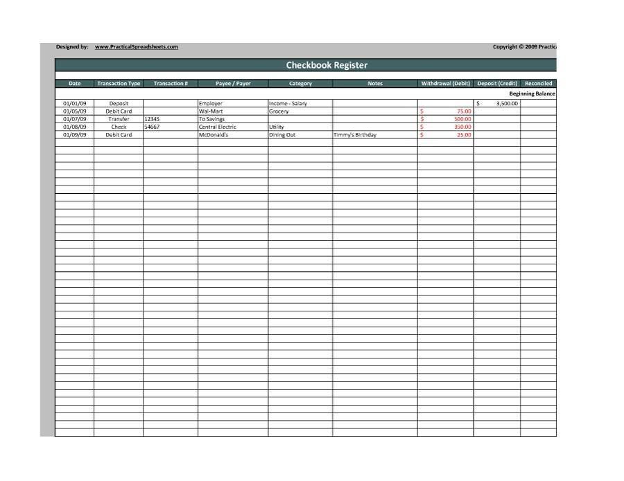 37 checkbook register templates  100  free  printable