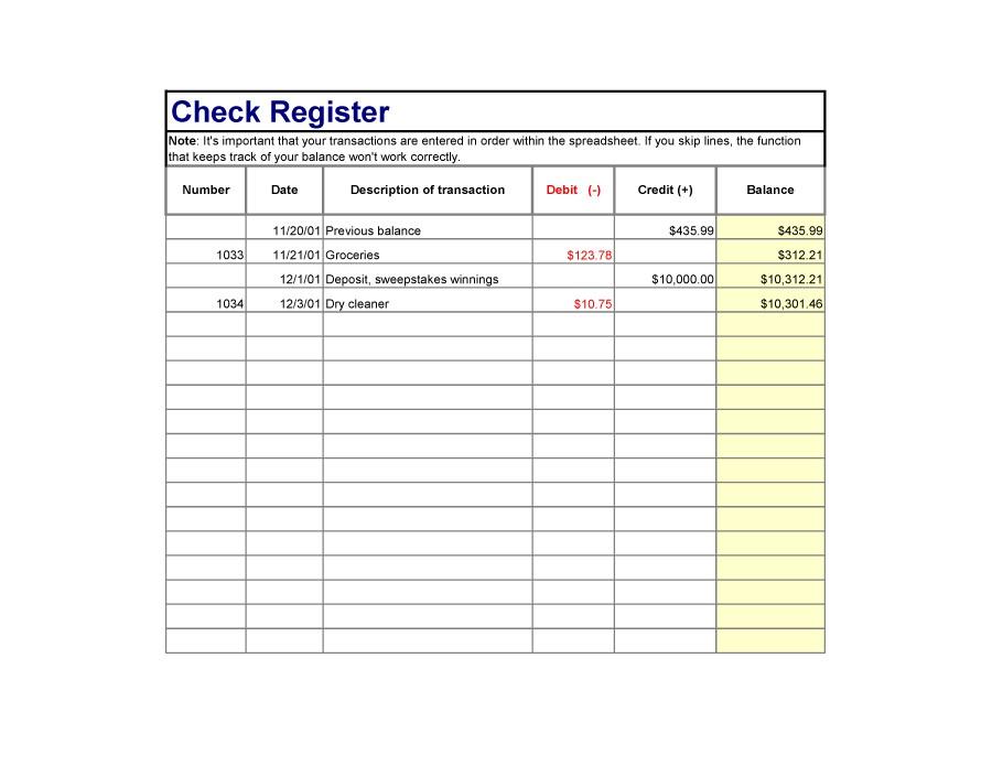 Free checkbook register 27