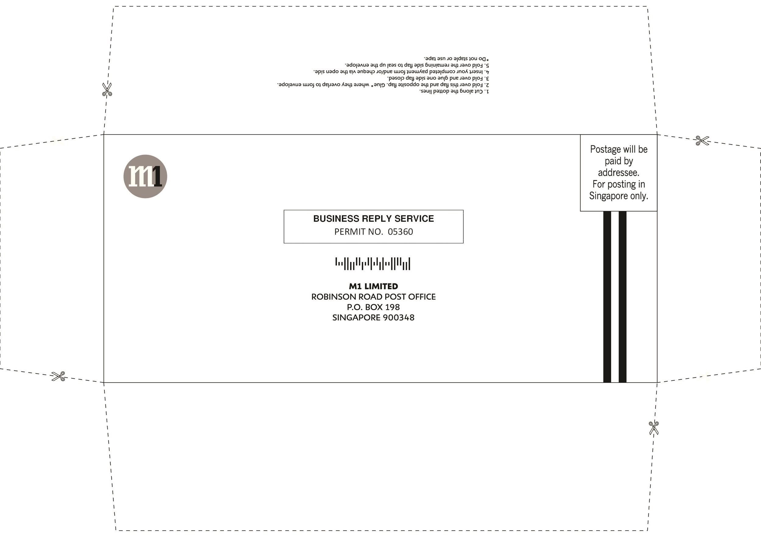 Free envelope template 01
