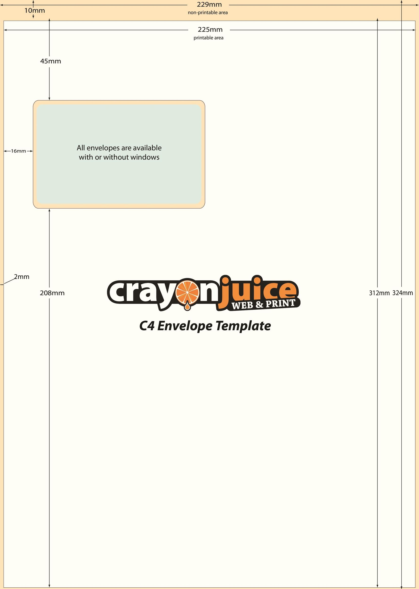 Free Envelope Template 02 Printable