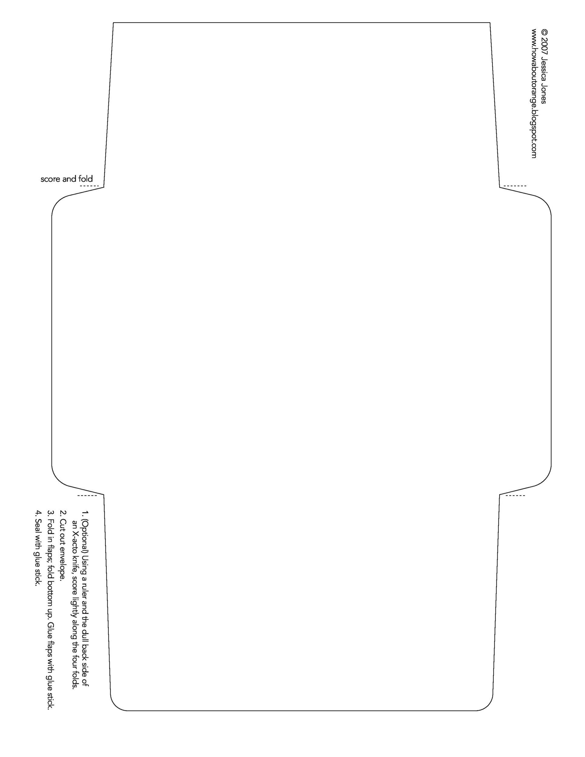 Free Envelope Template 05 Printable