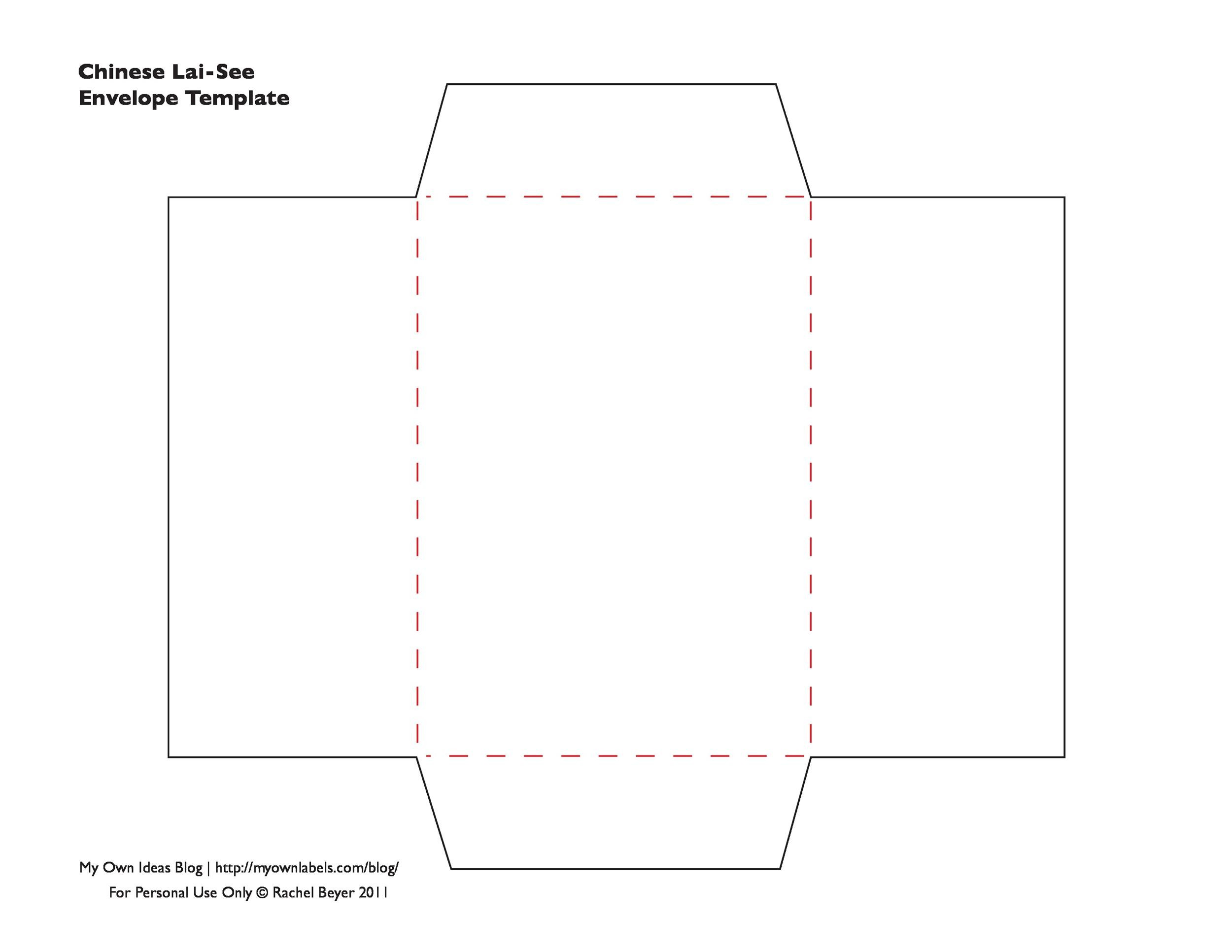 Free Envelope Template 09 Printable