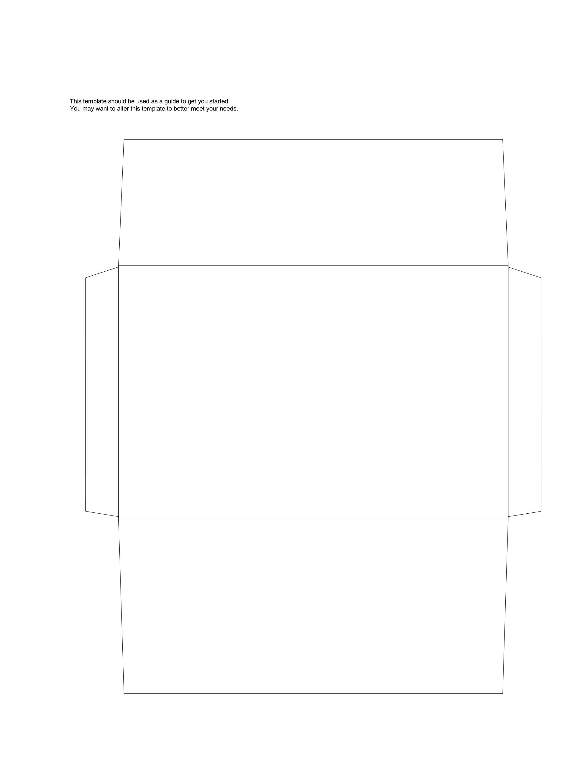 A6 Envelope Template from templatelab.com