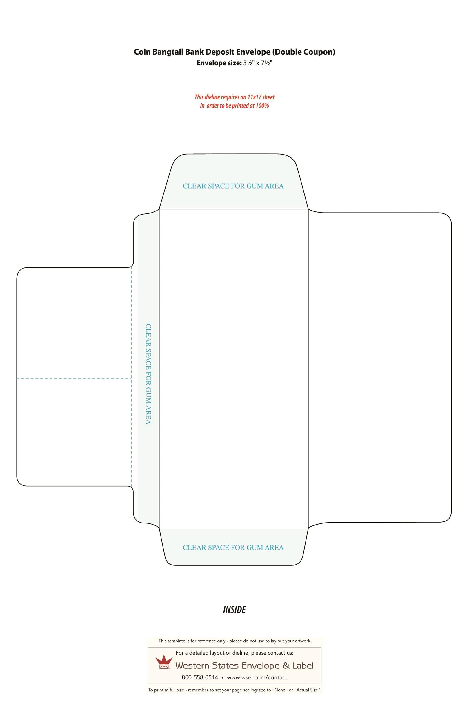 40 free envelope templates word pdf template lab for Legal size envelope template