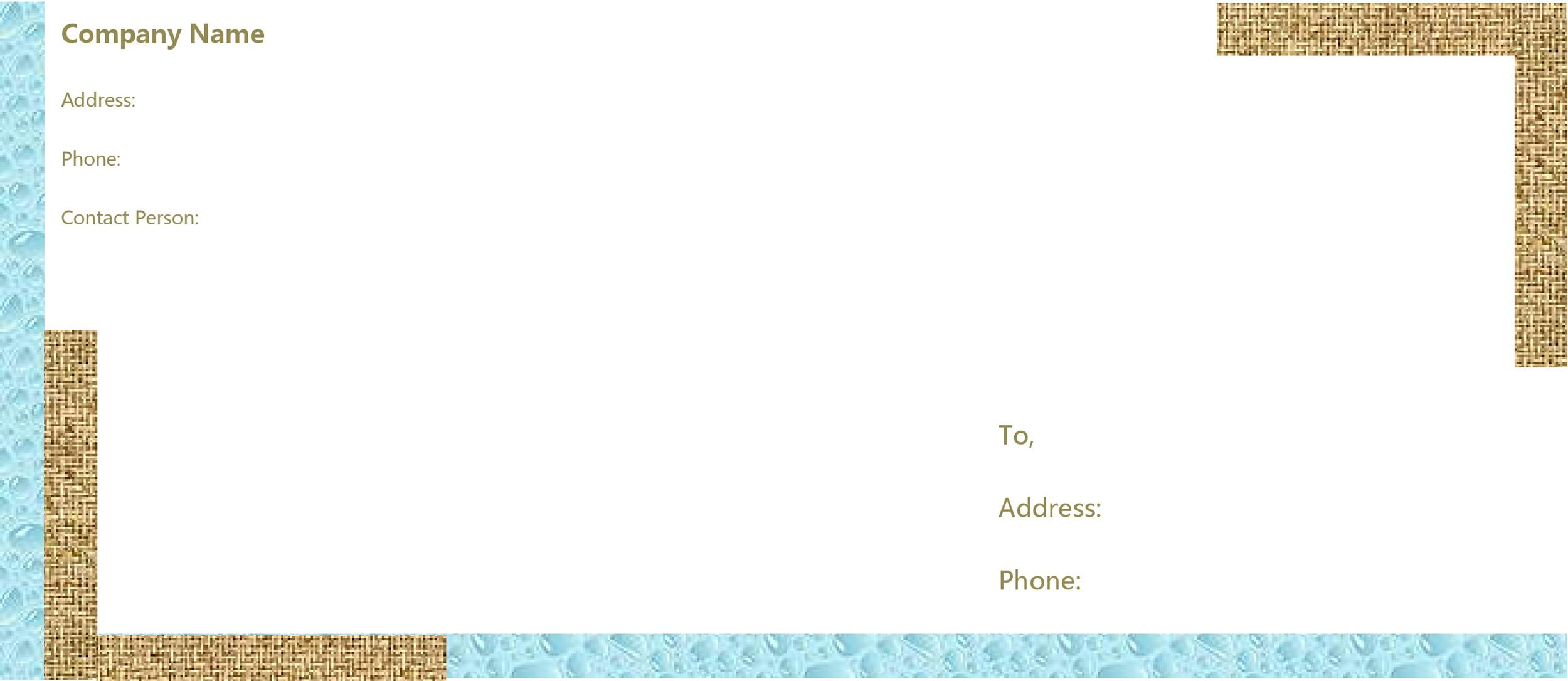 Free envelope template 41