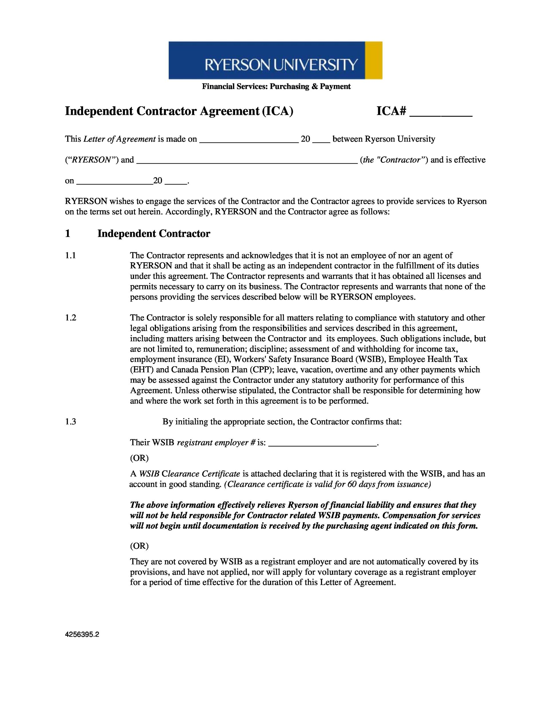 50 FREE Independent Contractor Agreement Forms & Templates