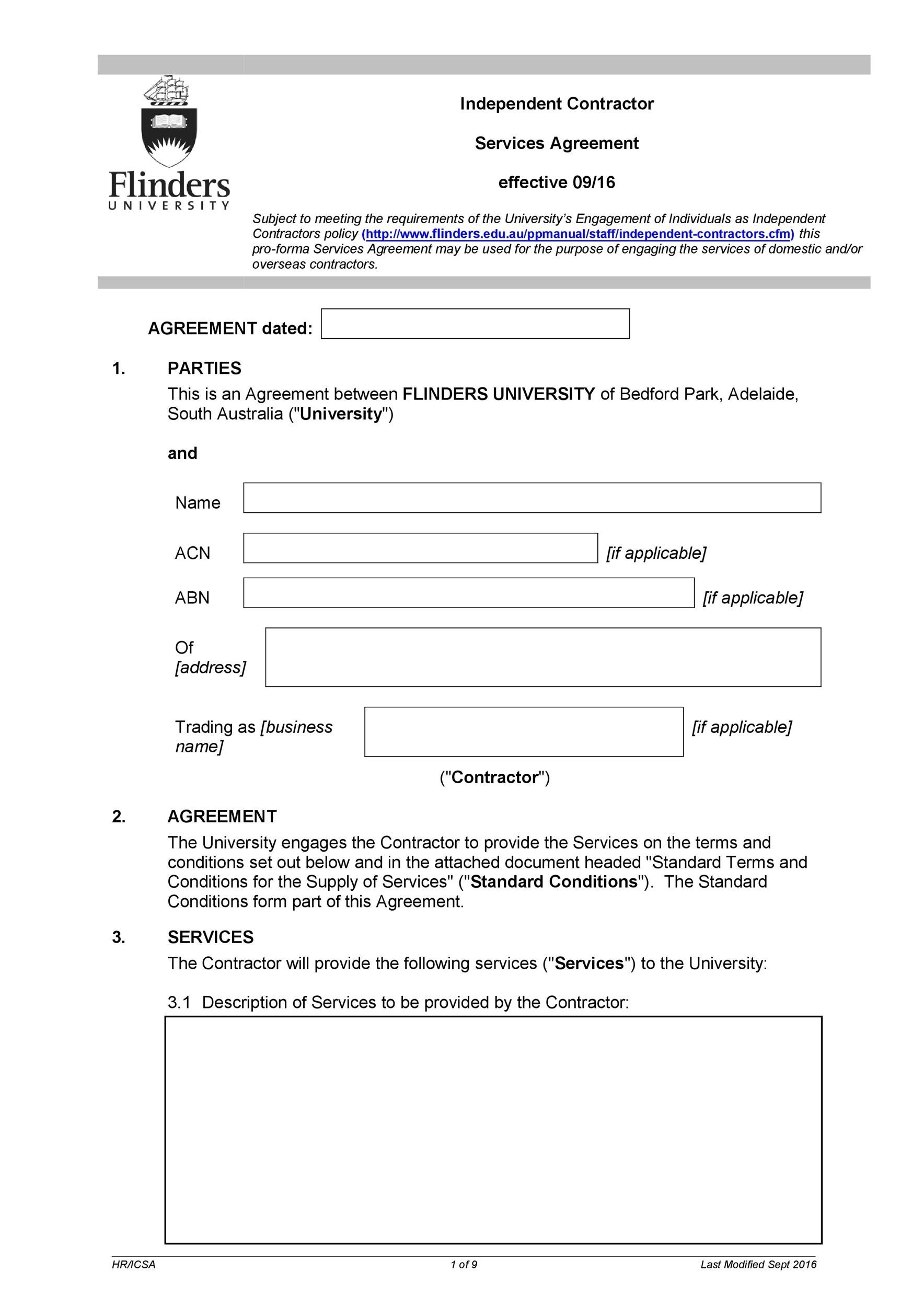 Free independent contractor agreement 22