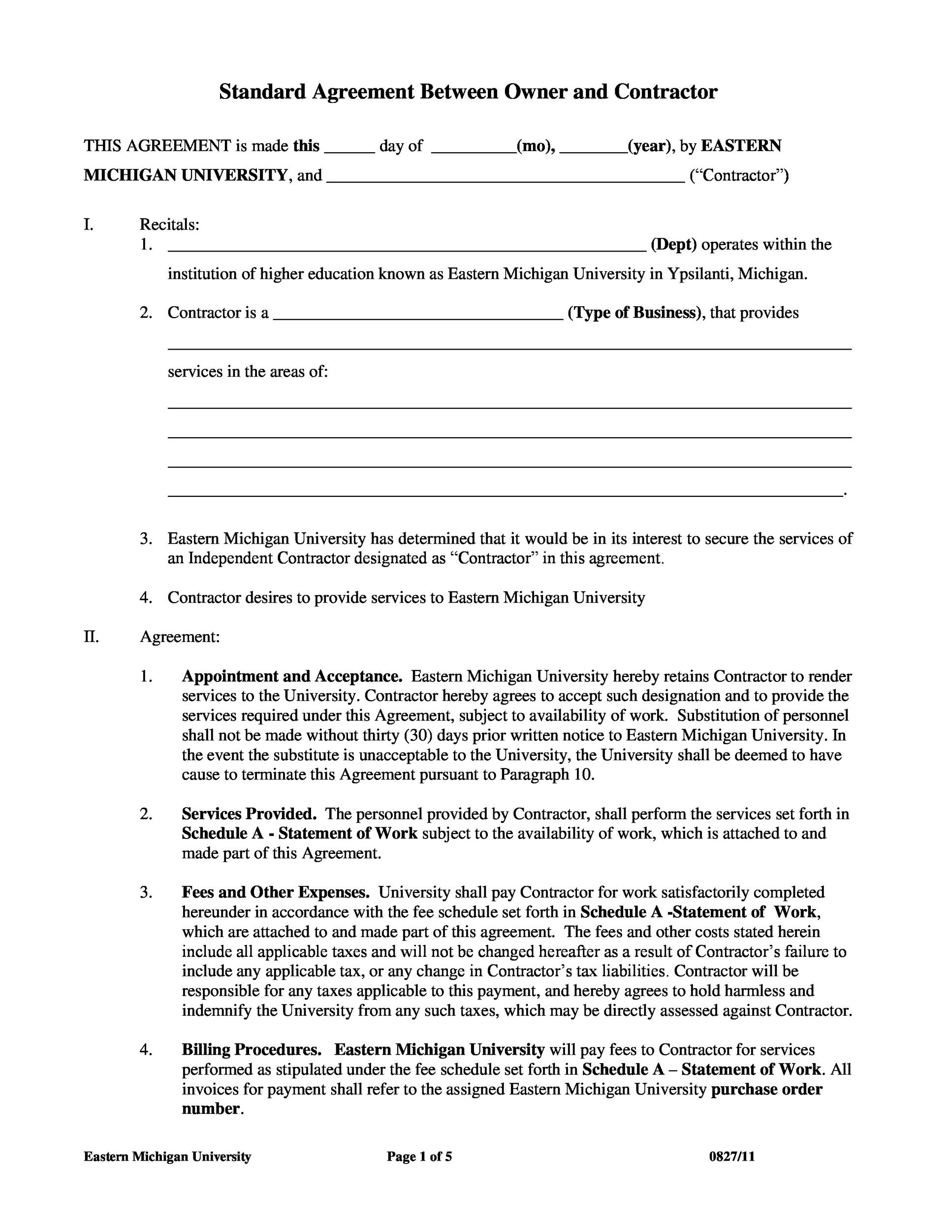 consultant contract template free download - 50 free independent contractor agreement forms templates