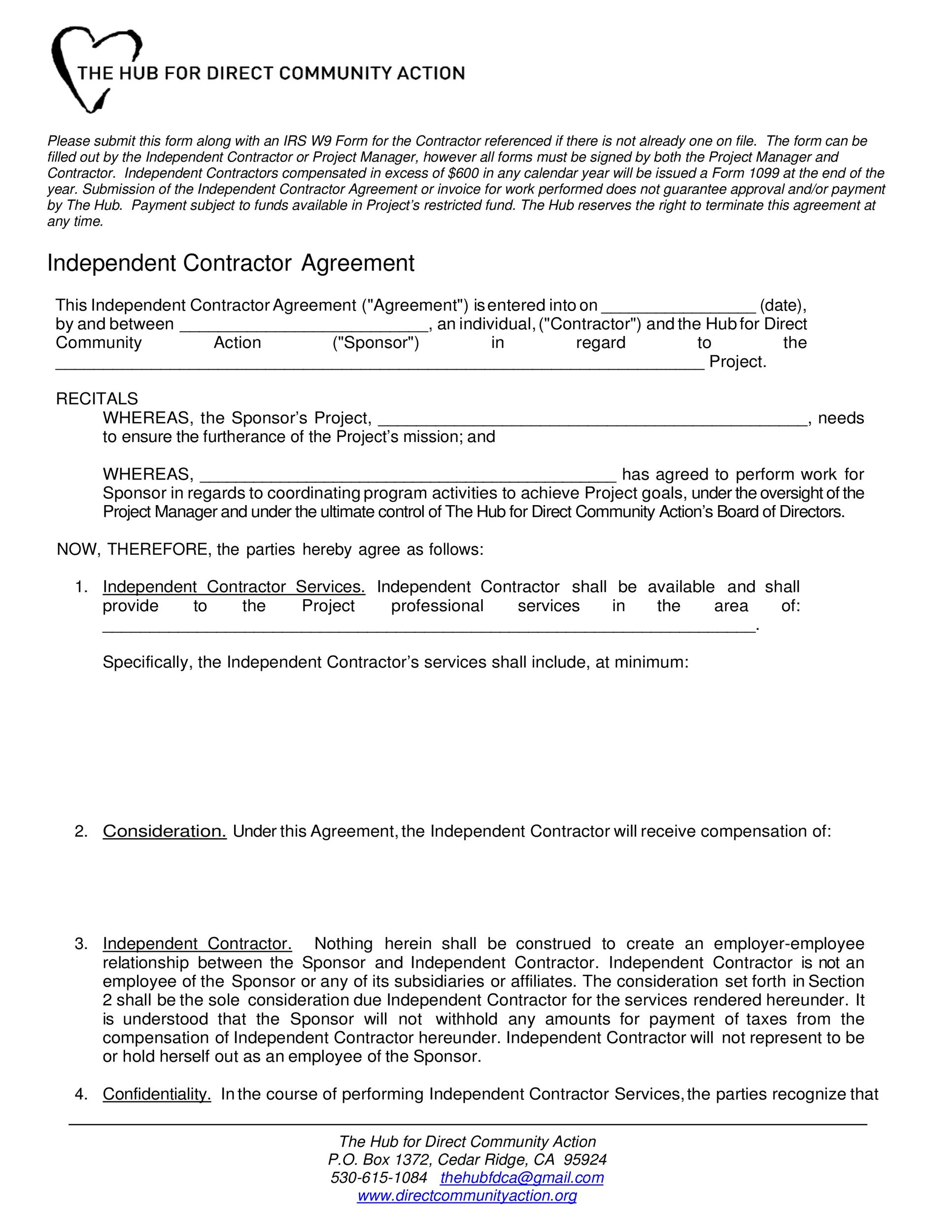 Free independent contractor agreement 30