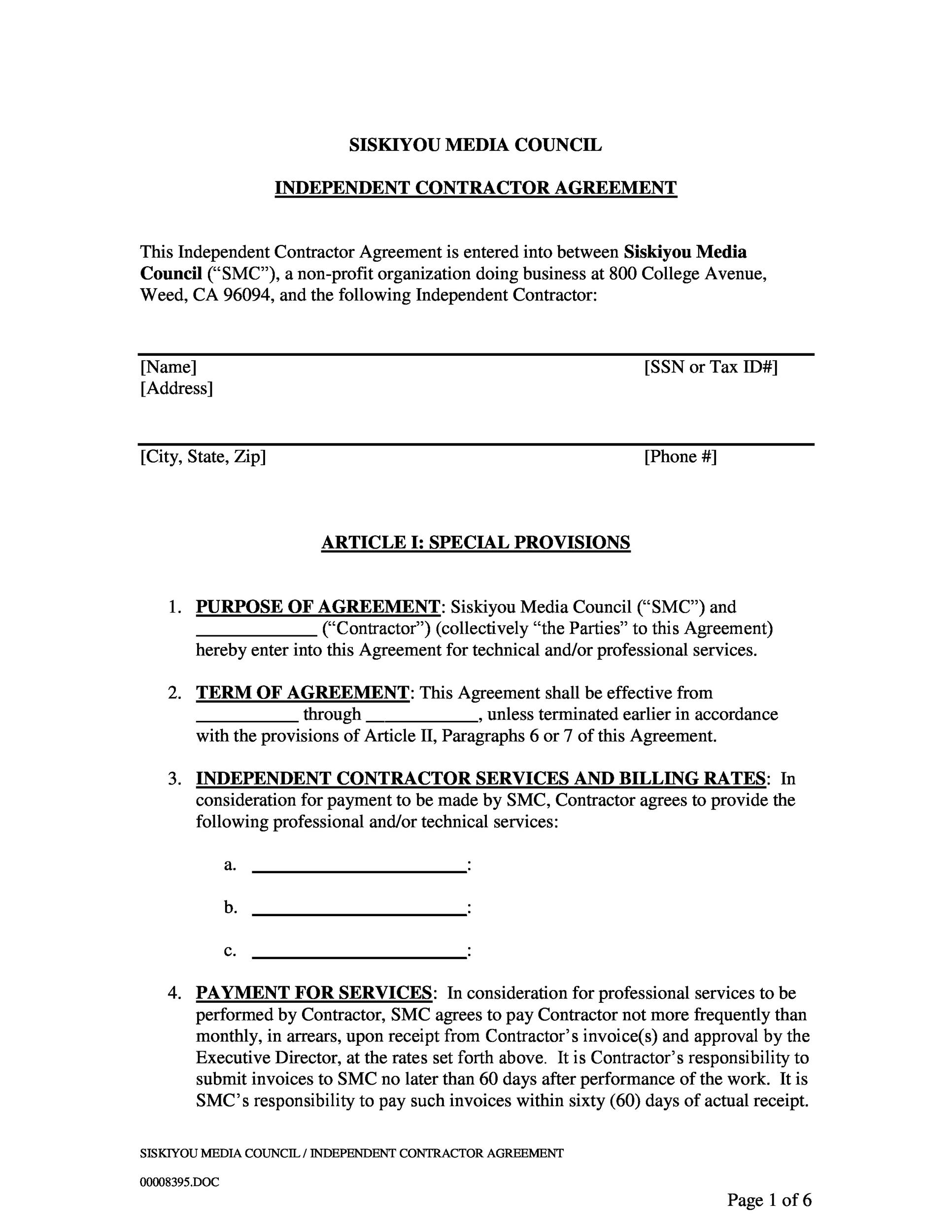 Free independent contractor agreement 33