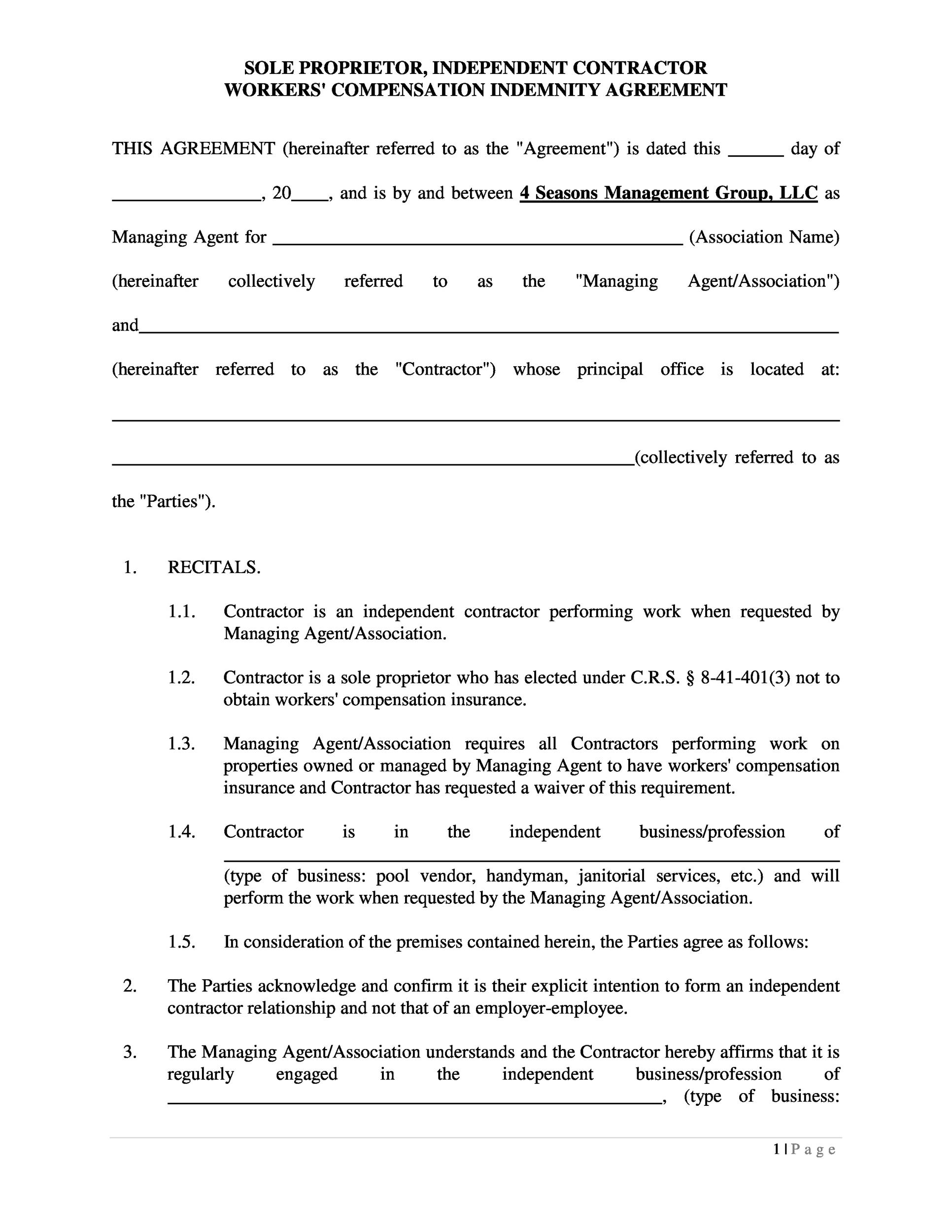 Free independent contractor agreement 34