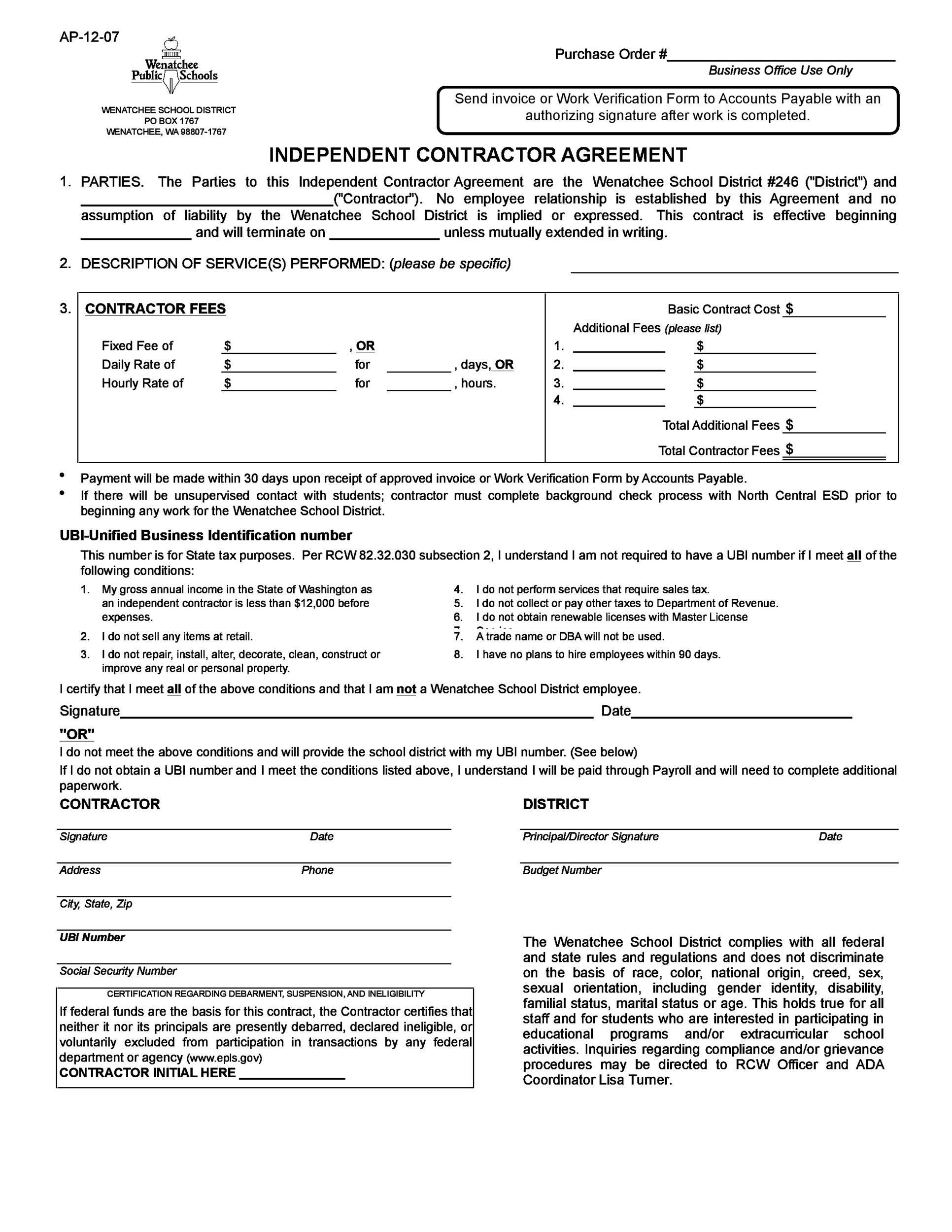 independent contractor agreement 38