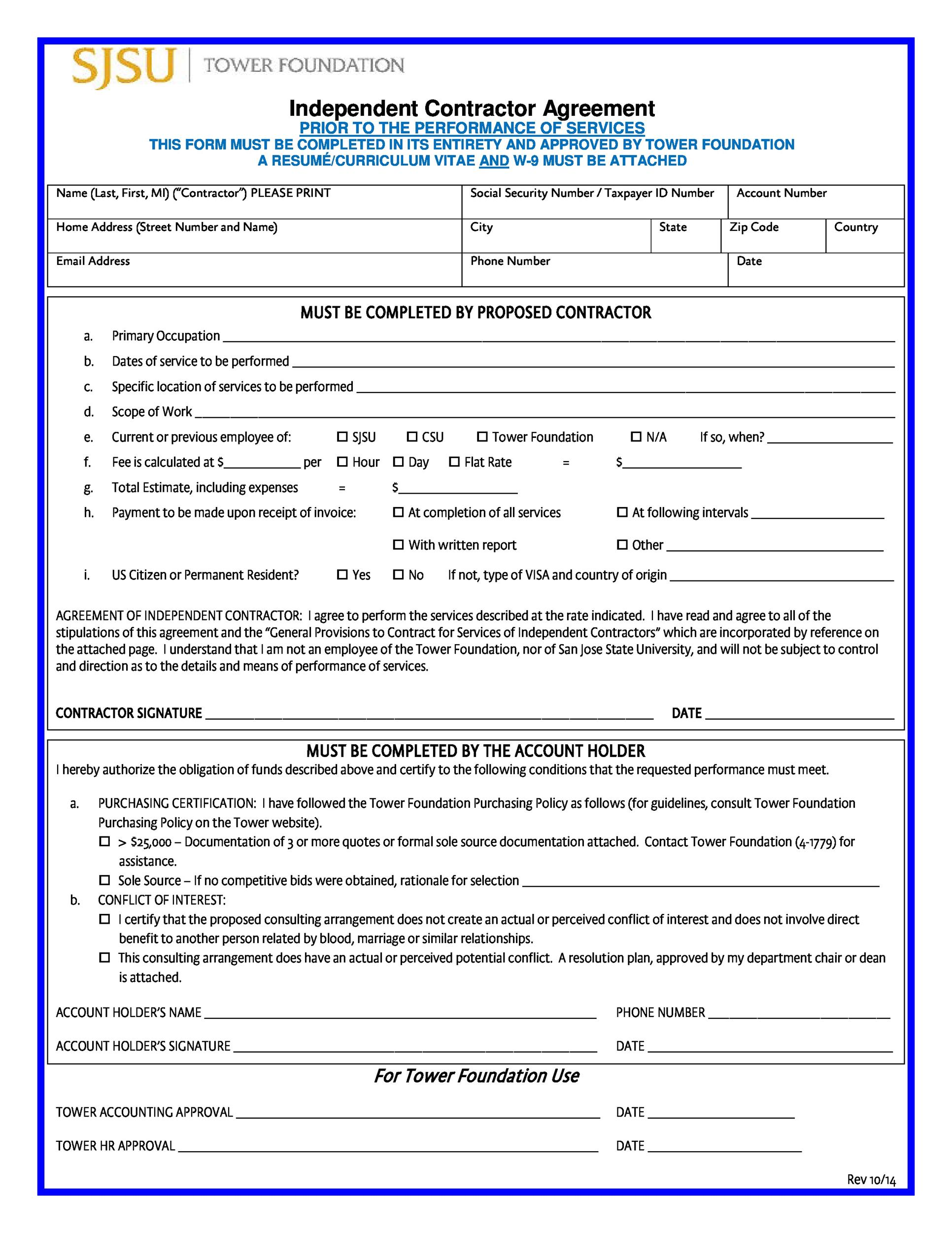 Free independent contractor agreement 43