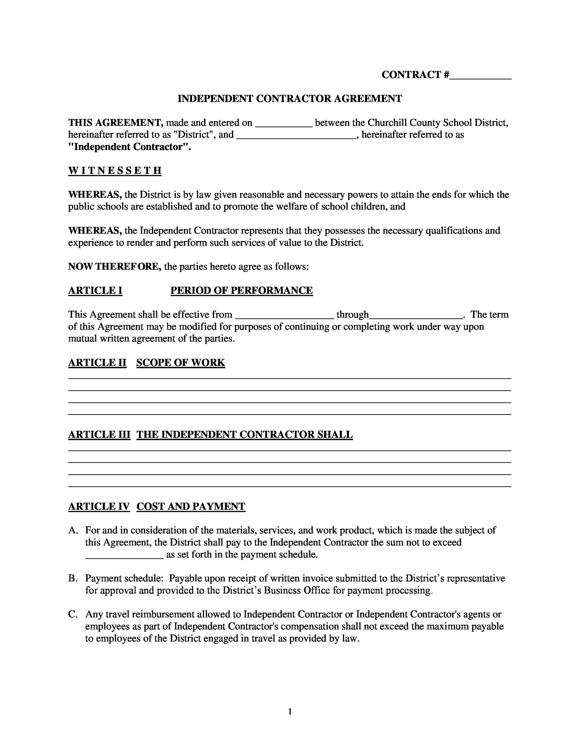 Free independent contractor agreement 47