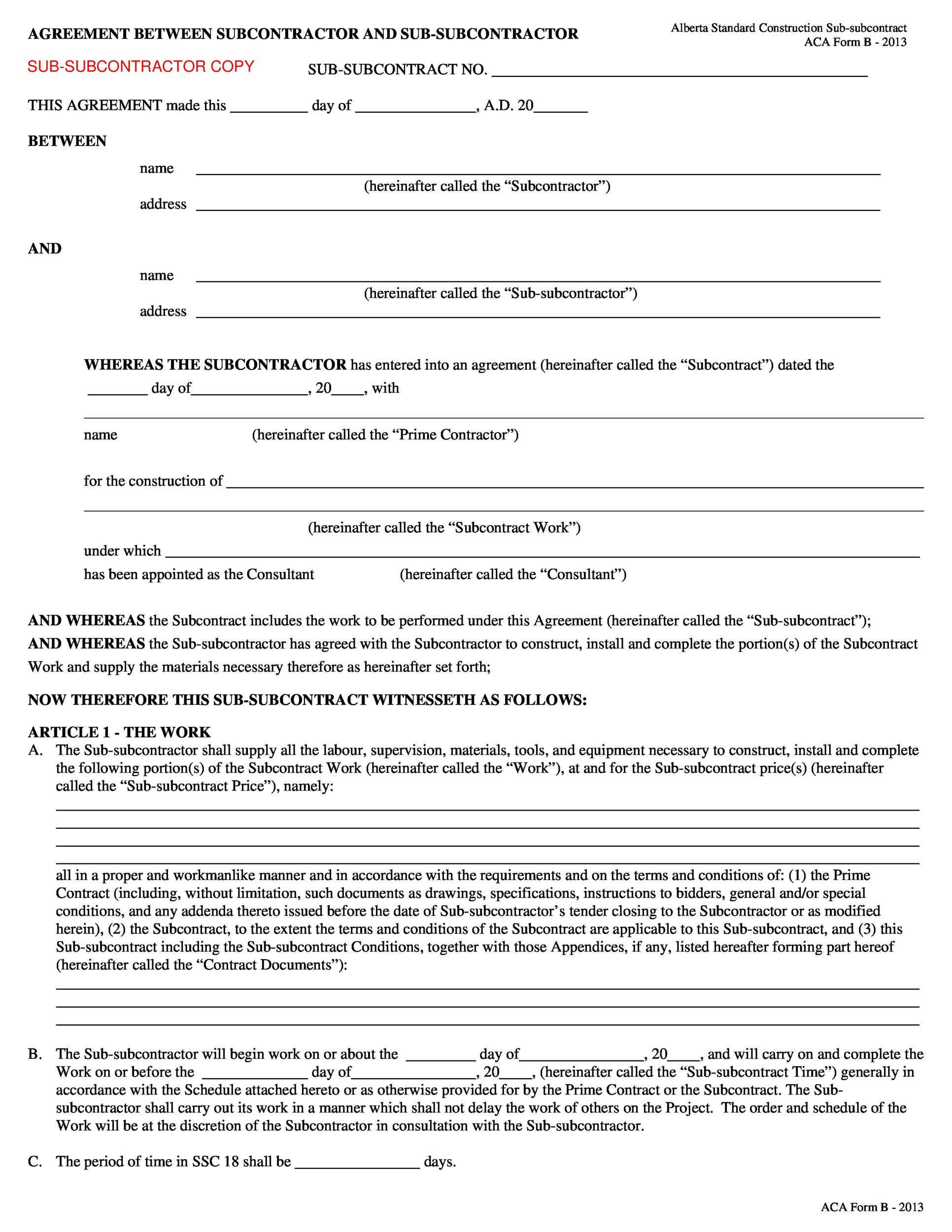 Free independent contractor agreement 51