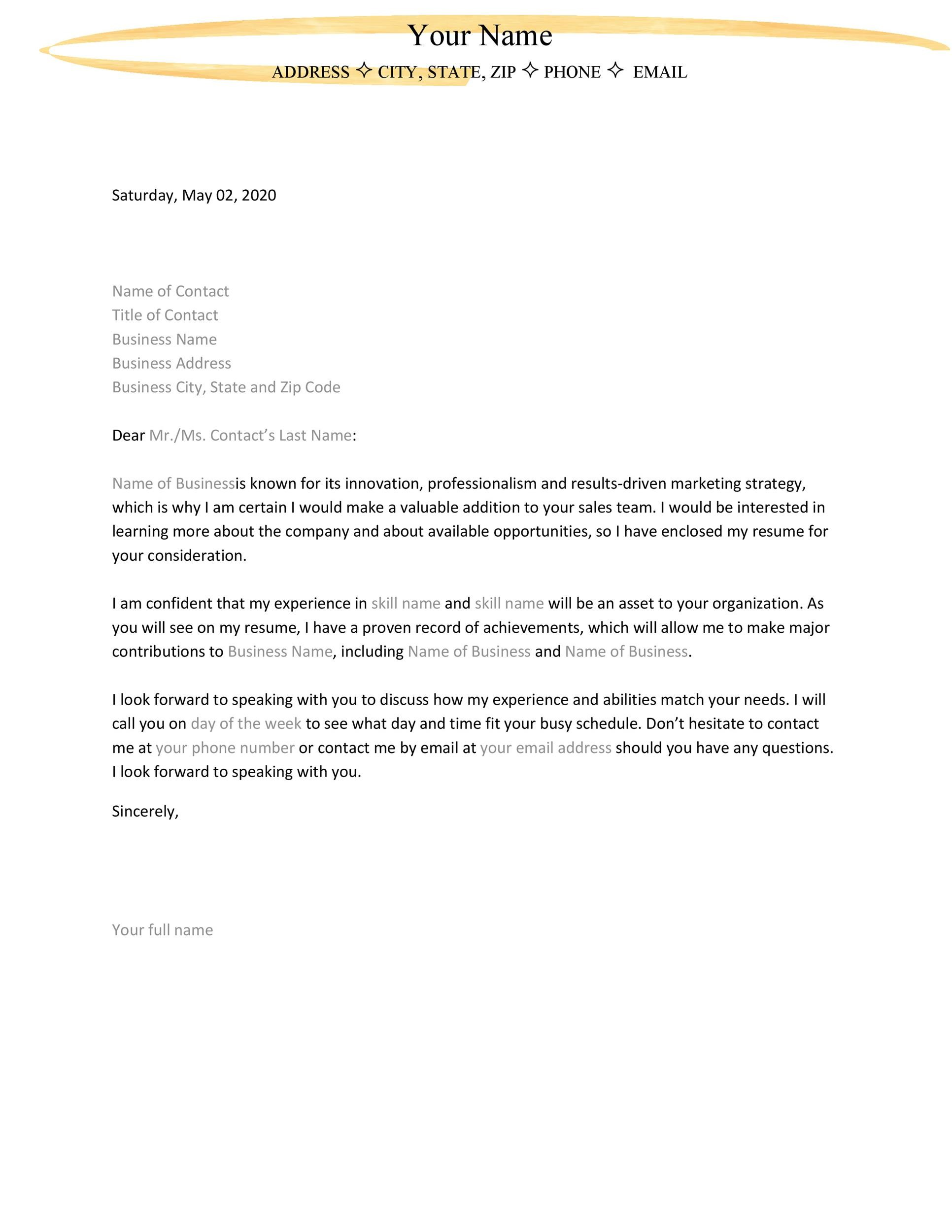 Sample Letter Of Interest To Purchase Land from templatelab.com