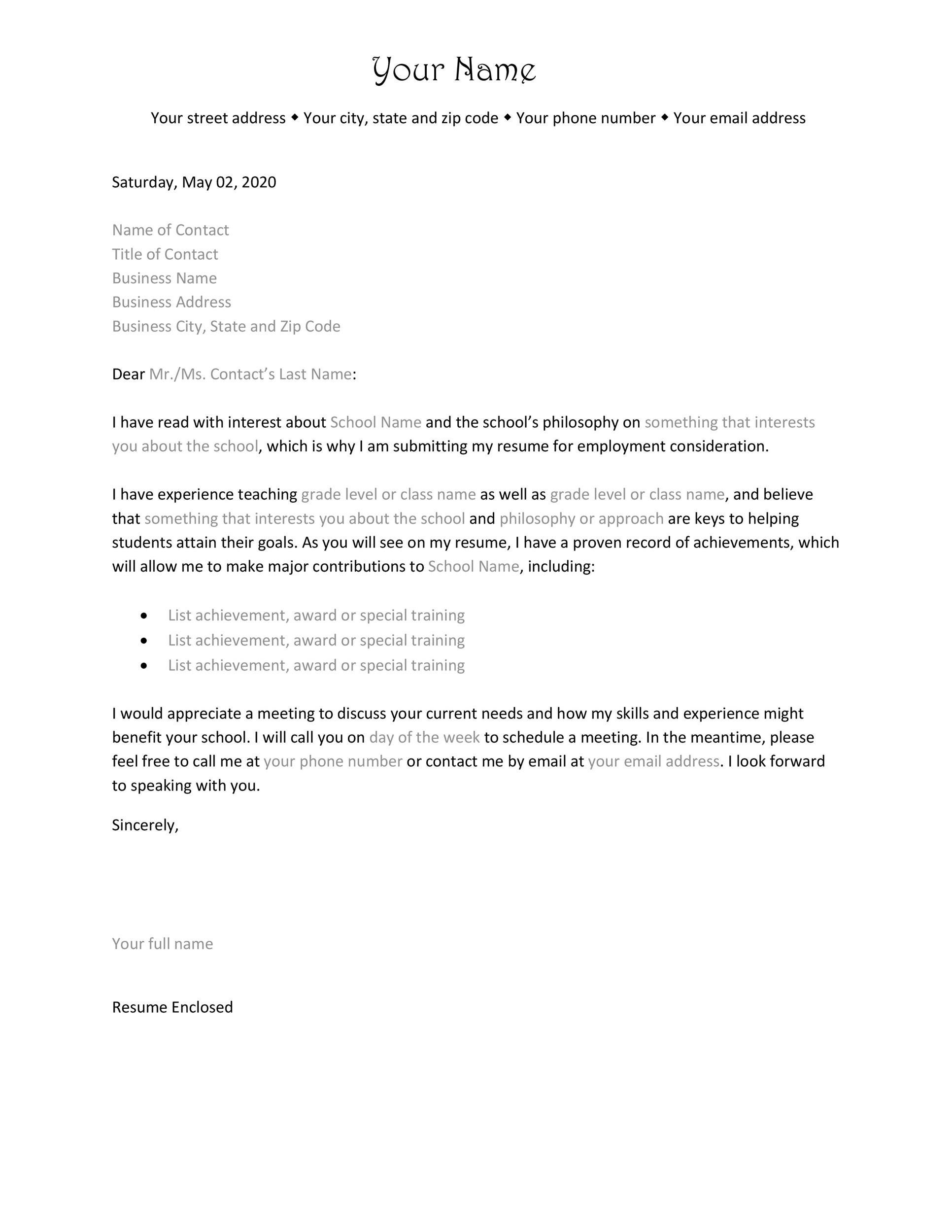 free letter of interest 03 - Cover Letter Interest Sample