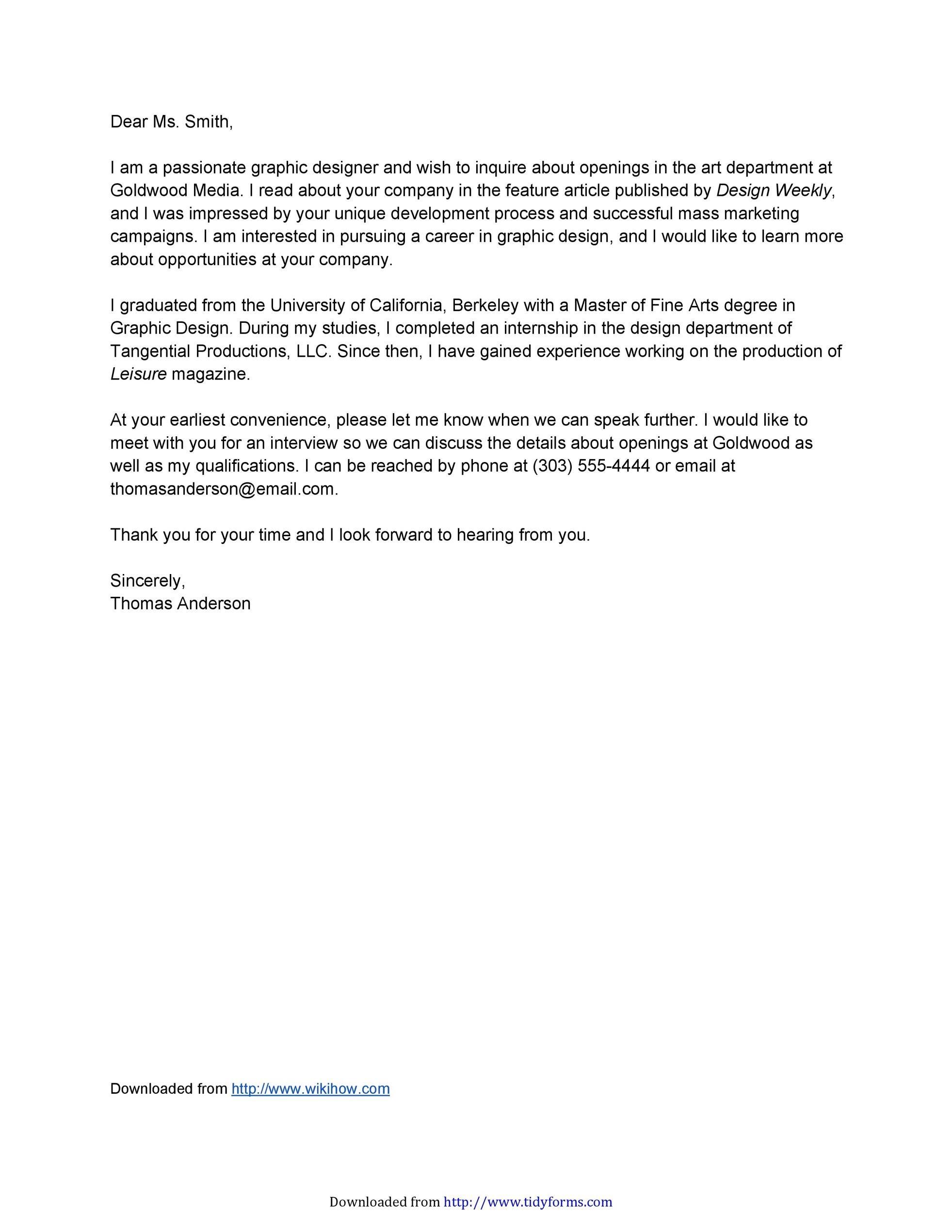 Free letter of interest 05