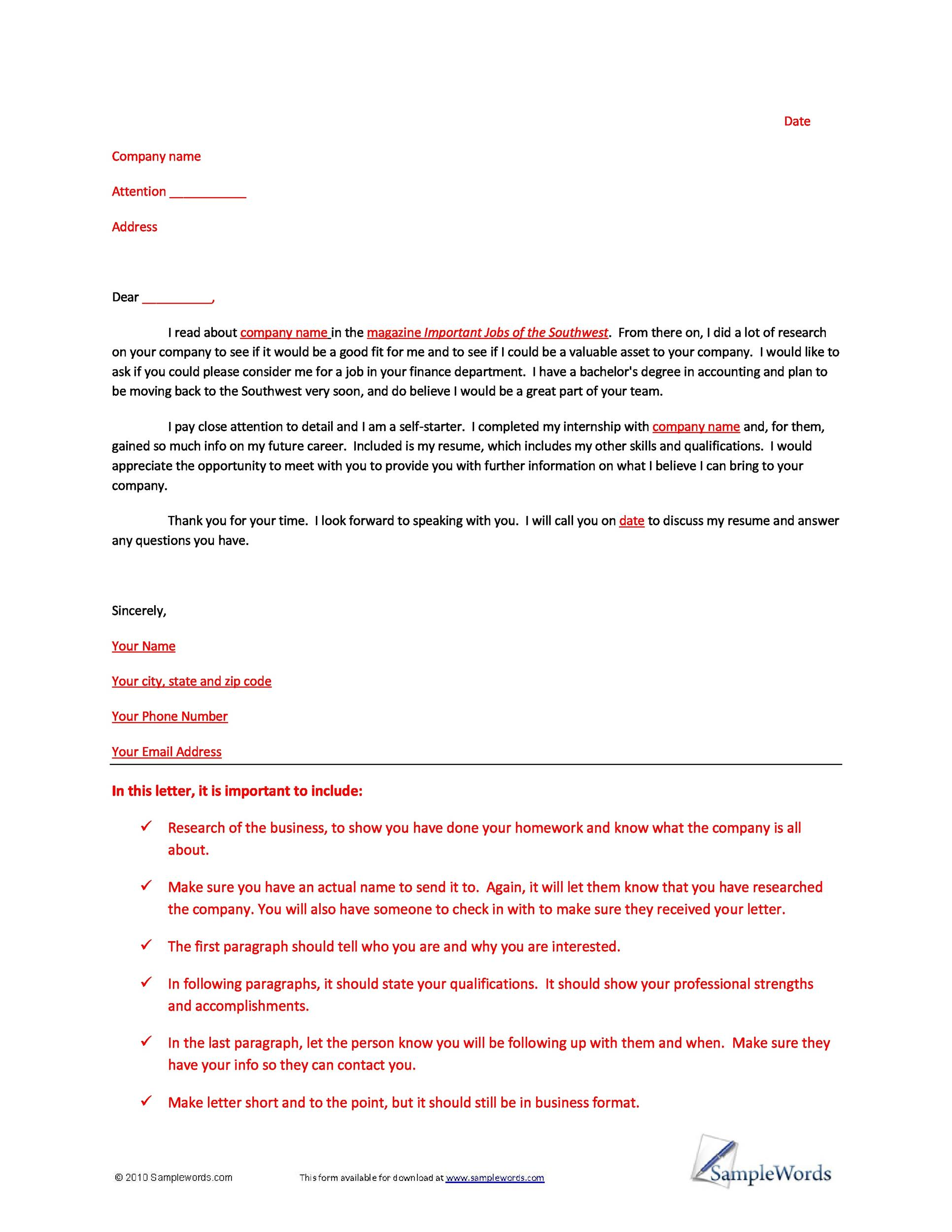 Free letter of interest 06