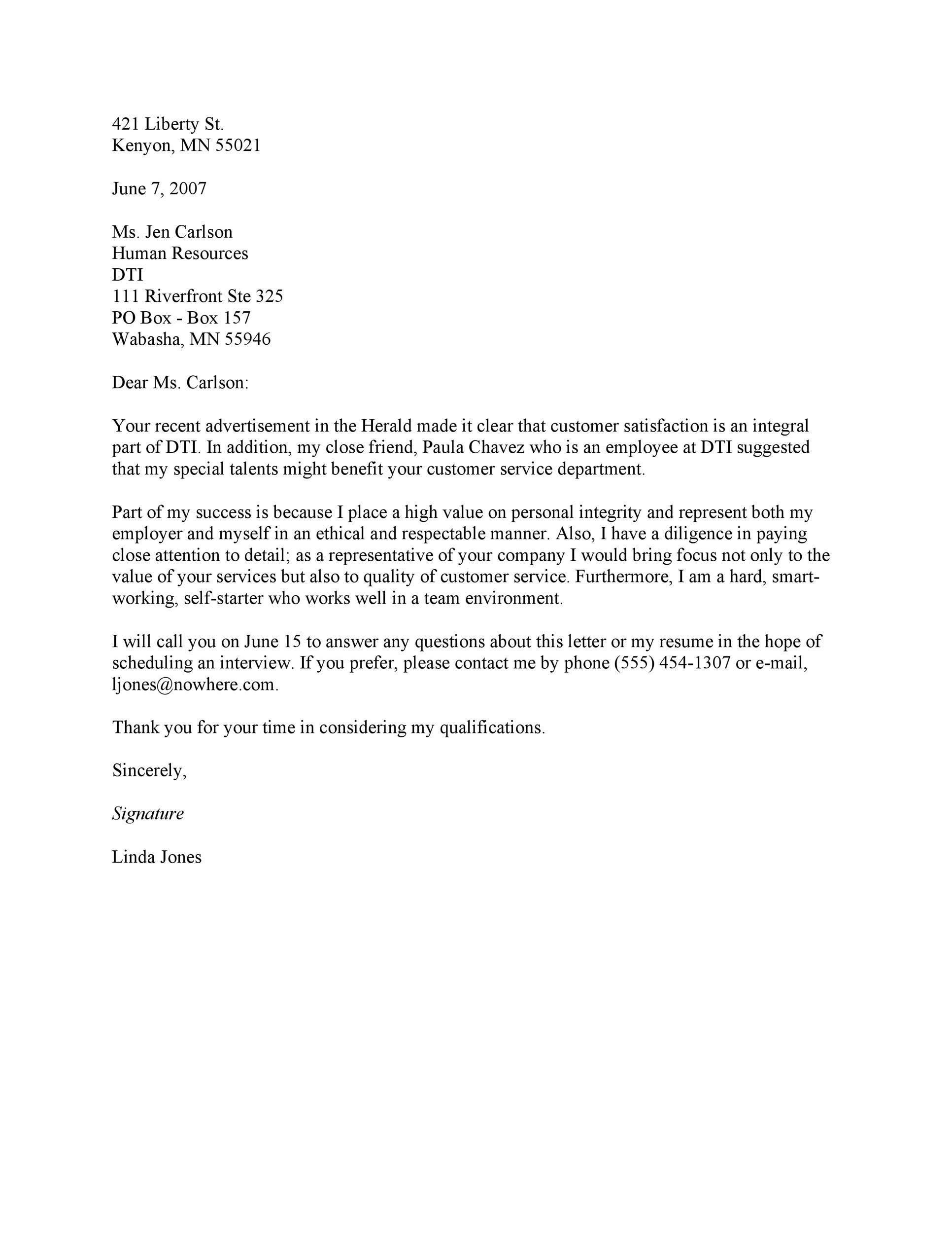 Free letter of interest 07