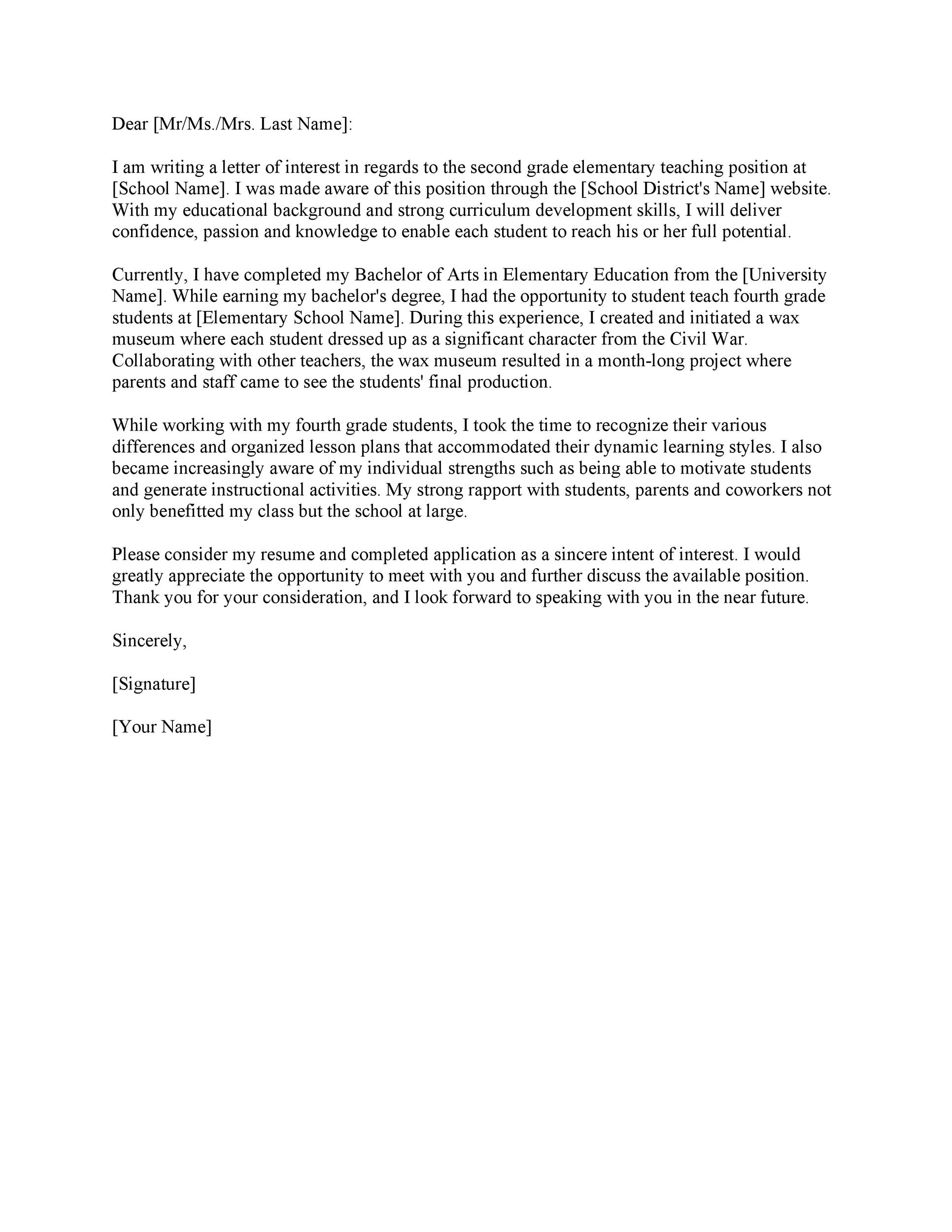 Free letter of interest 08