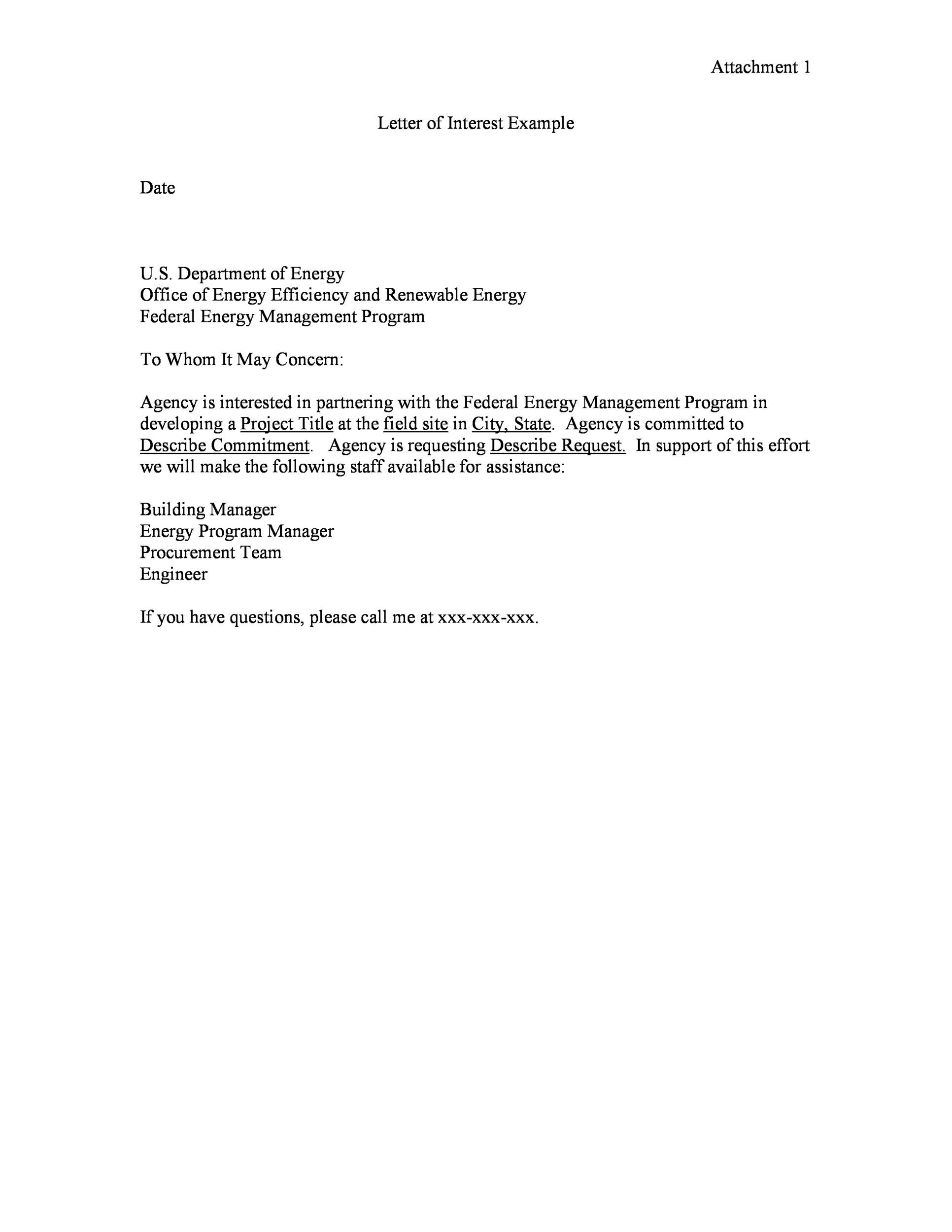 Free letter of interest 09