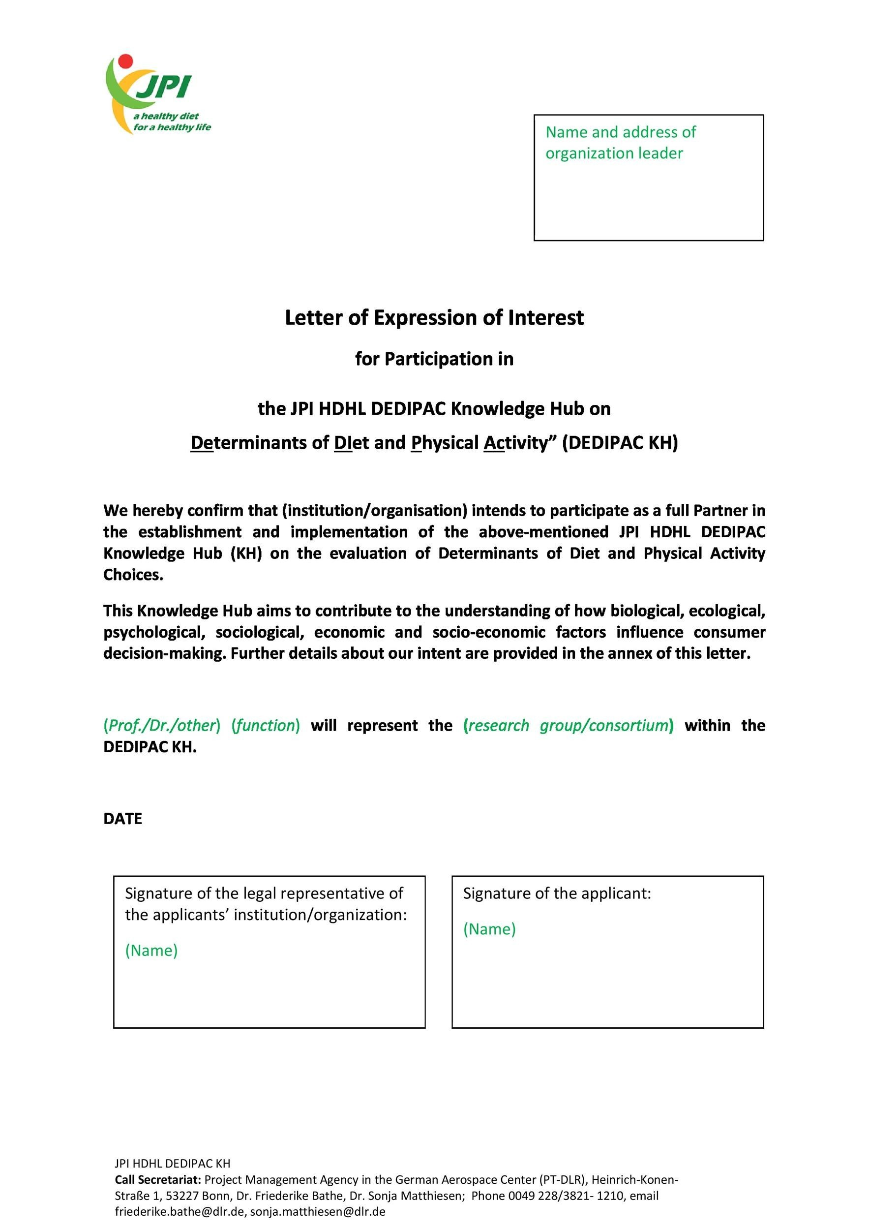 Free letter of interest 13