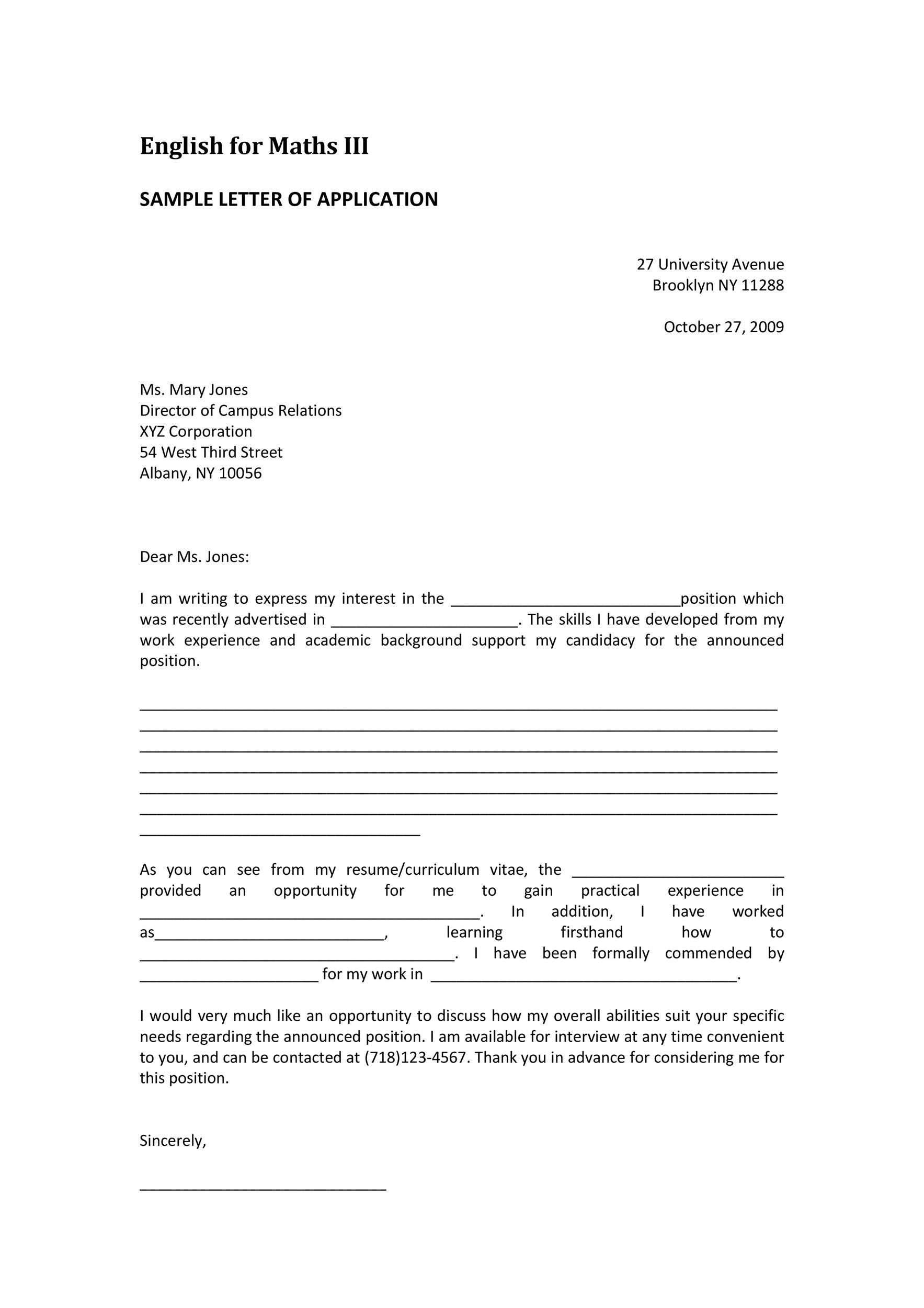 amazing letter of interest samples templates letter of interest 14