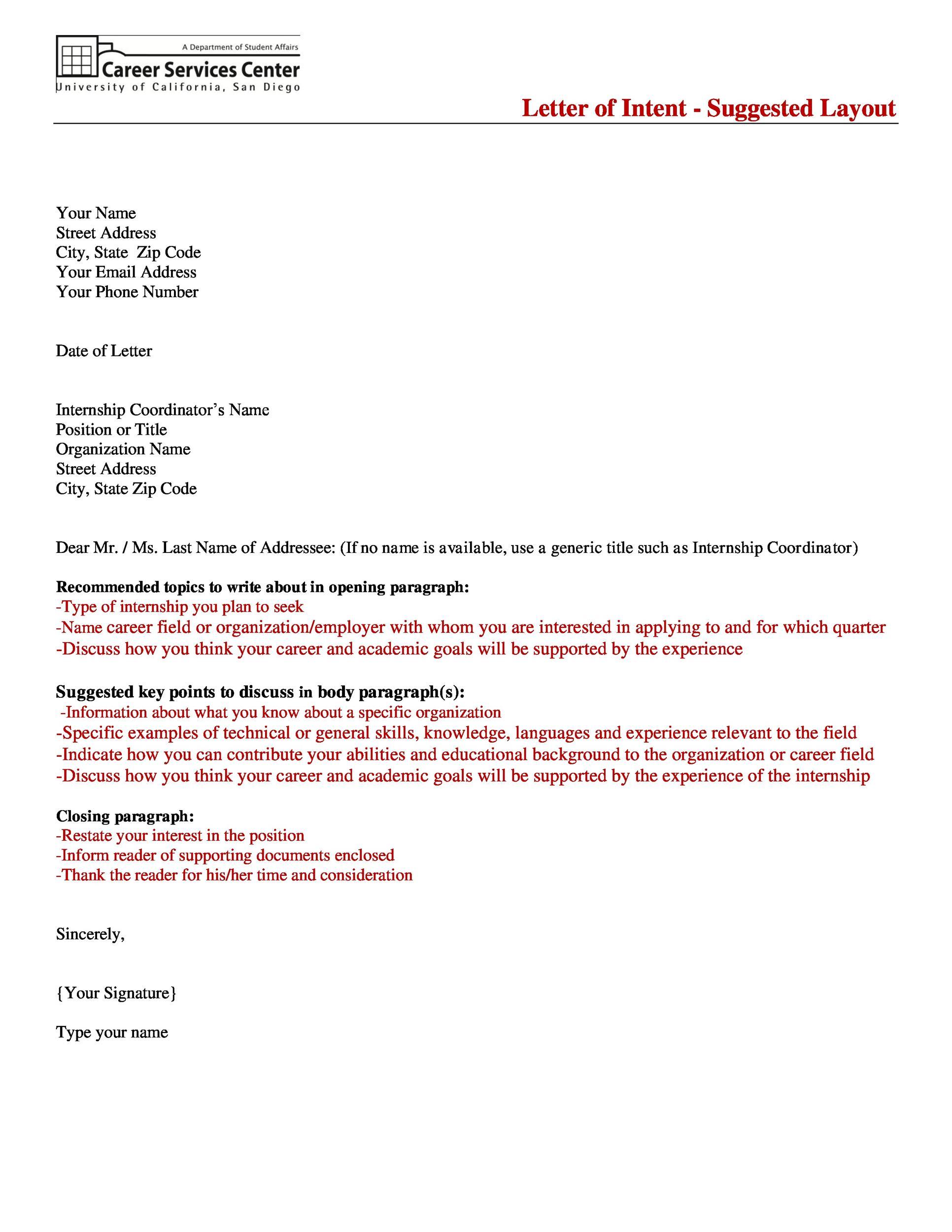 Free letter of interest 16