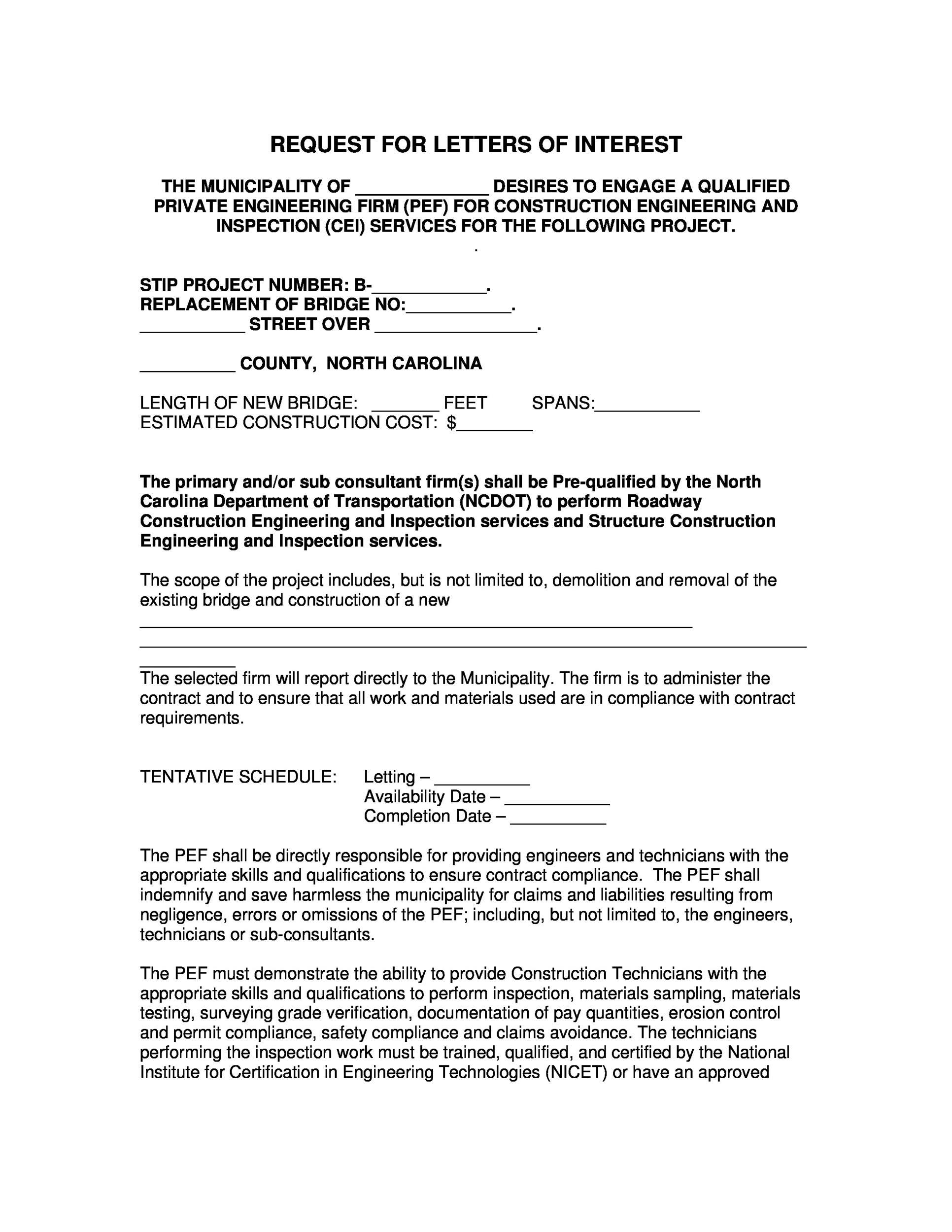 Free letter of interest 29