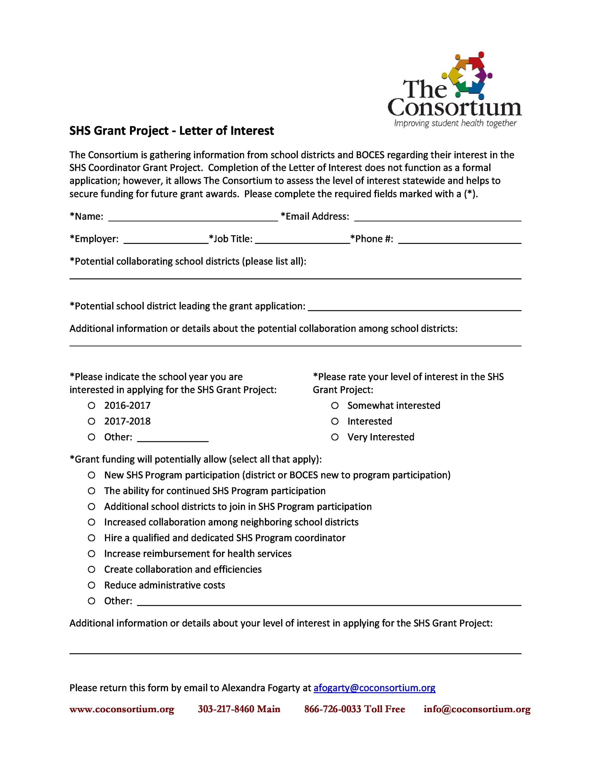 Free letter of interest 30