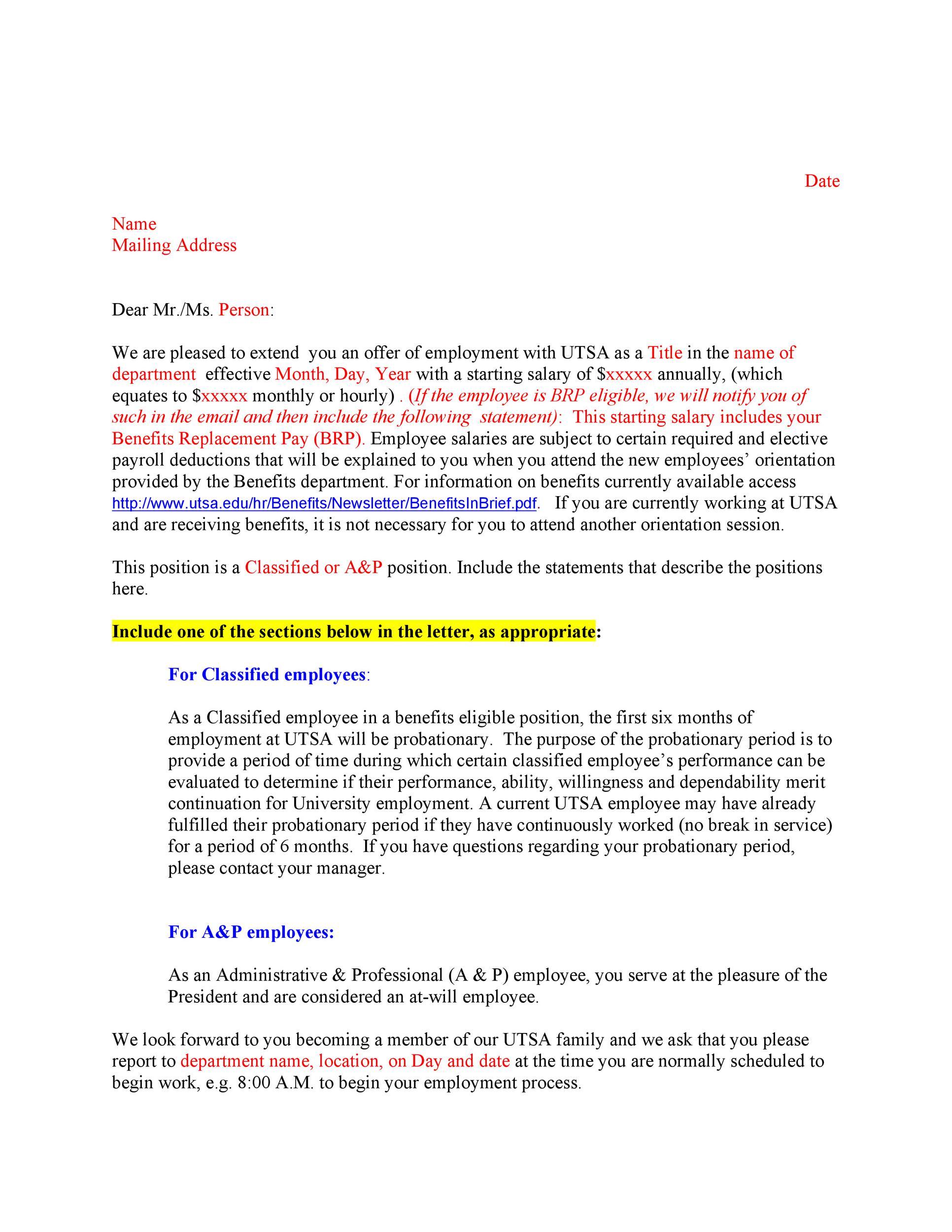 Free Offer letter 02