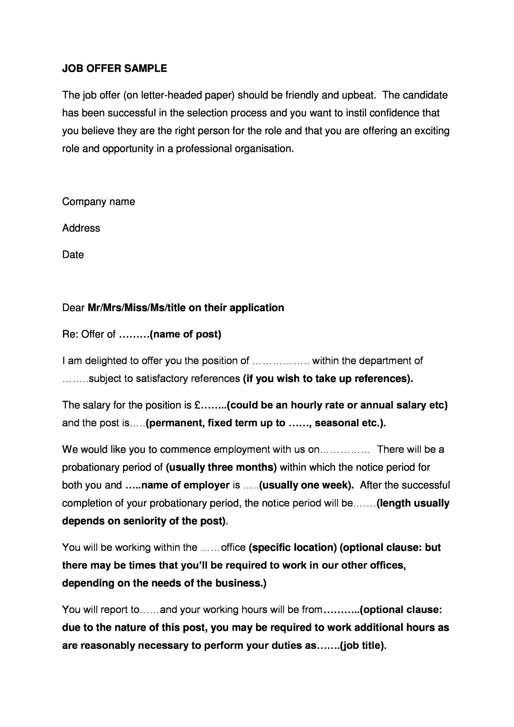 Free Offer letter 04