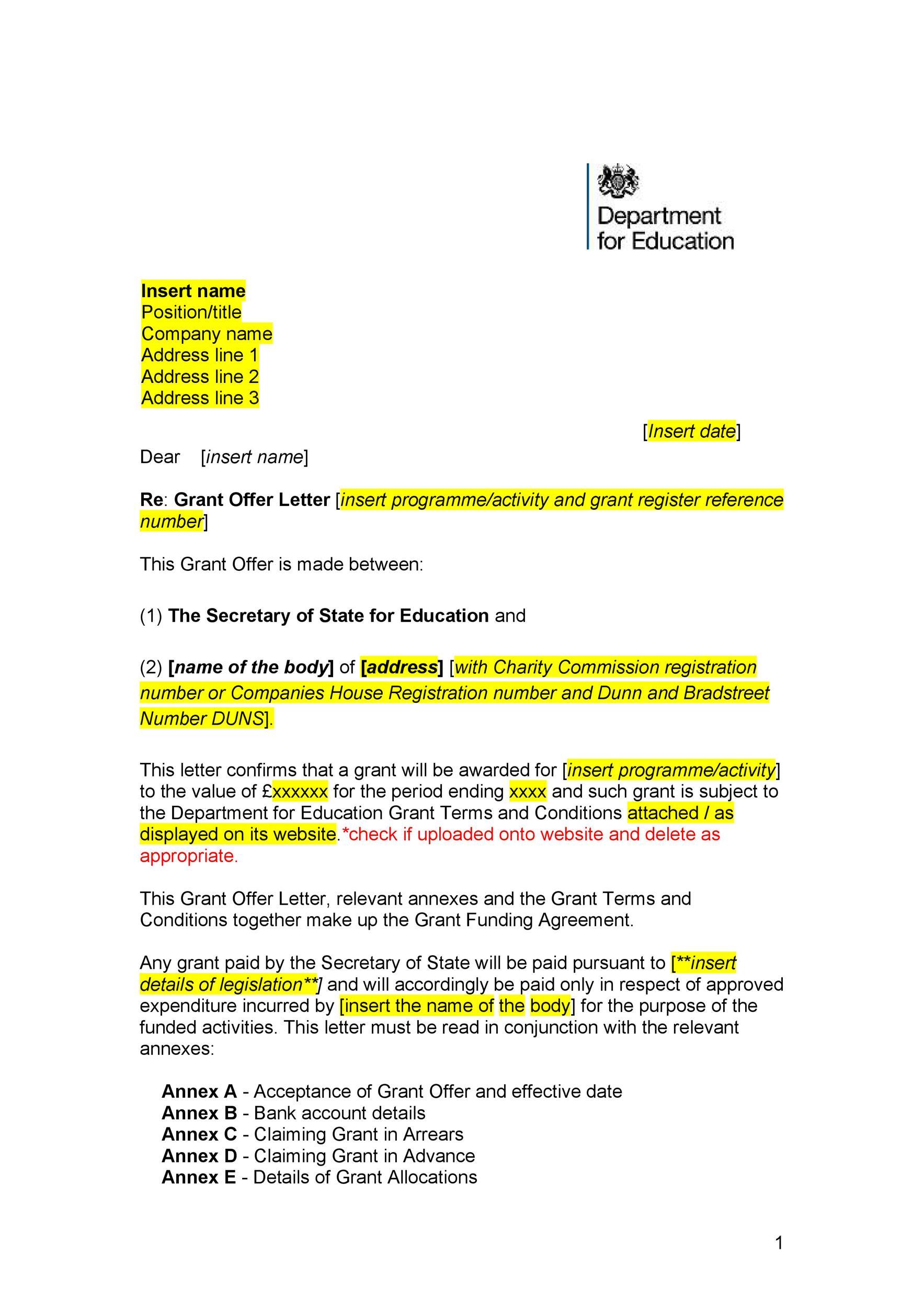 Free Offer letter 16