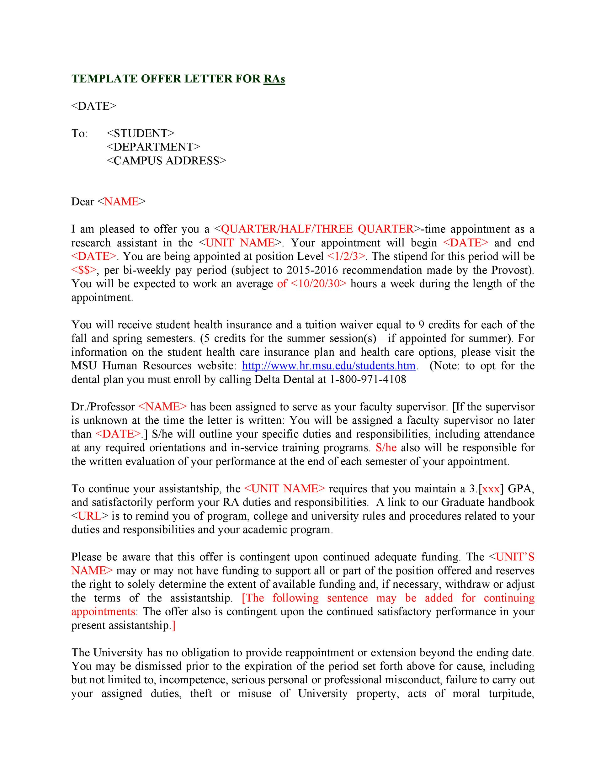 Free Offer letter 21