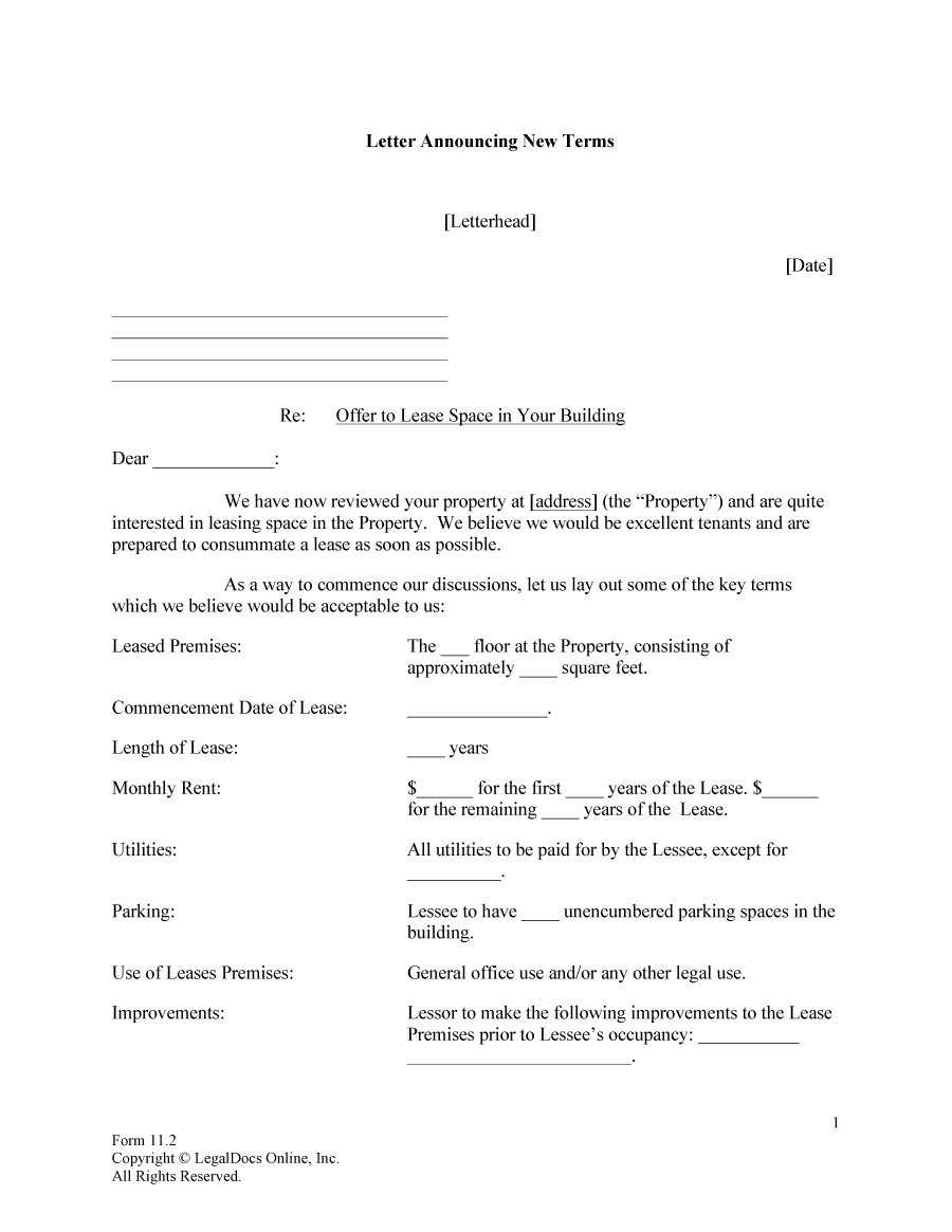 Free Offer letter 26