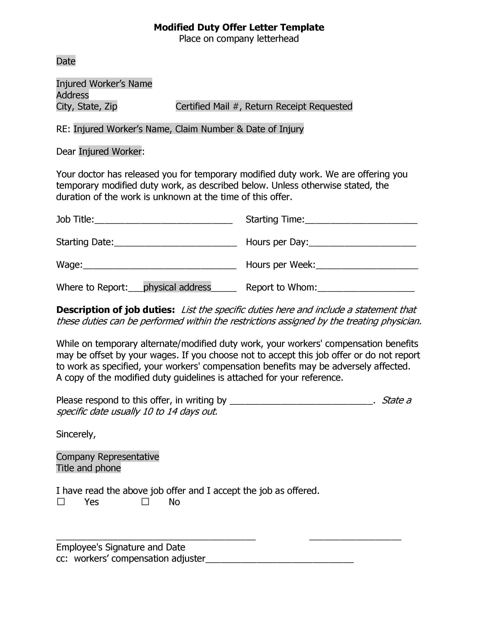 Free Offer letter 31