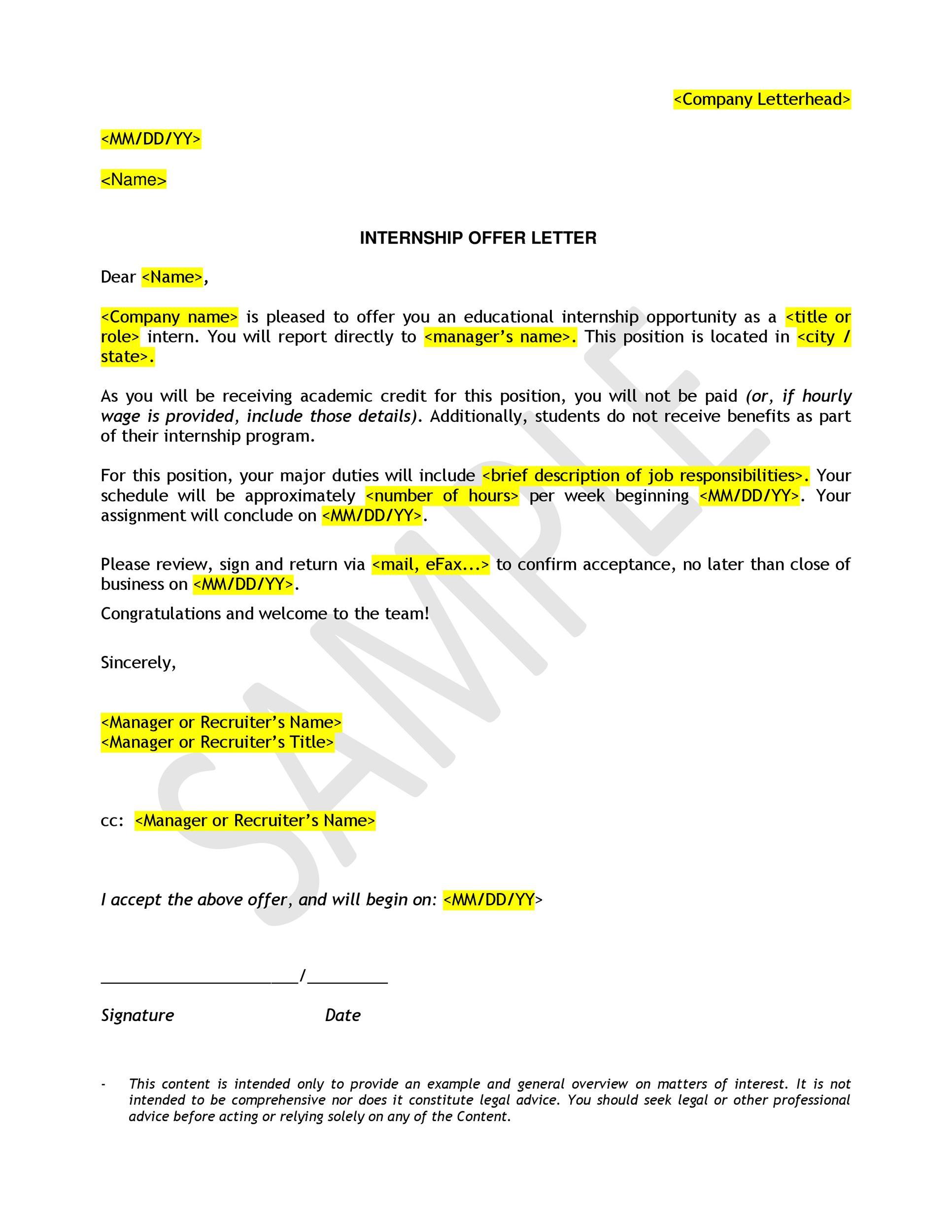 Free Offer letter 33