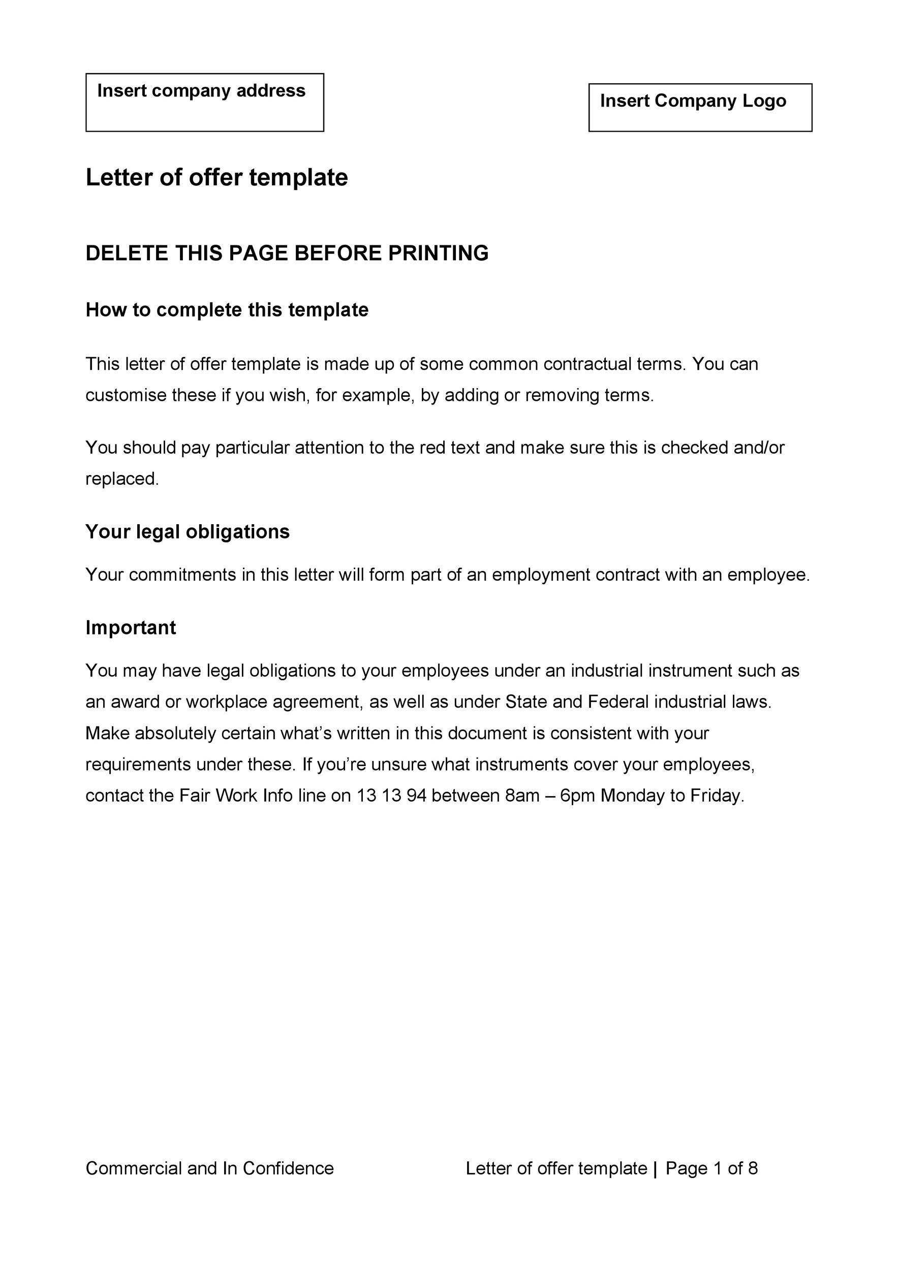 Free Offer letter 35