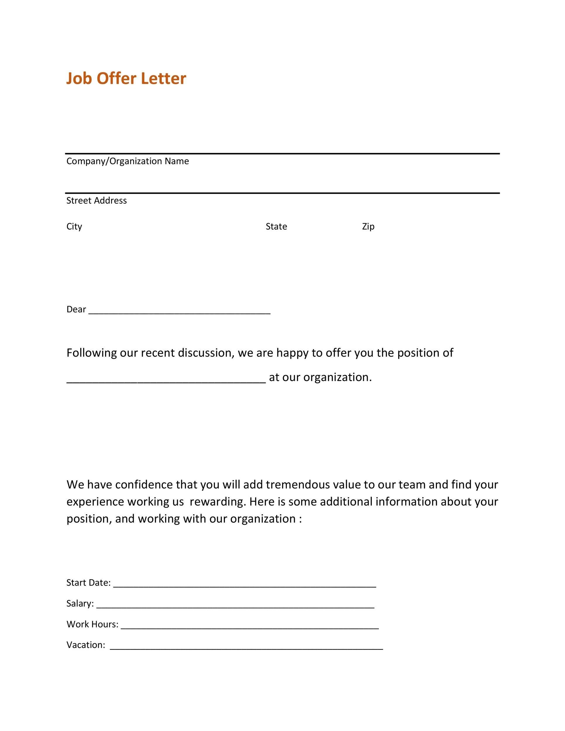 Free Offer letter 36