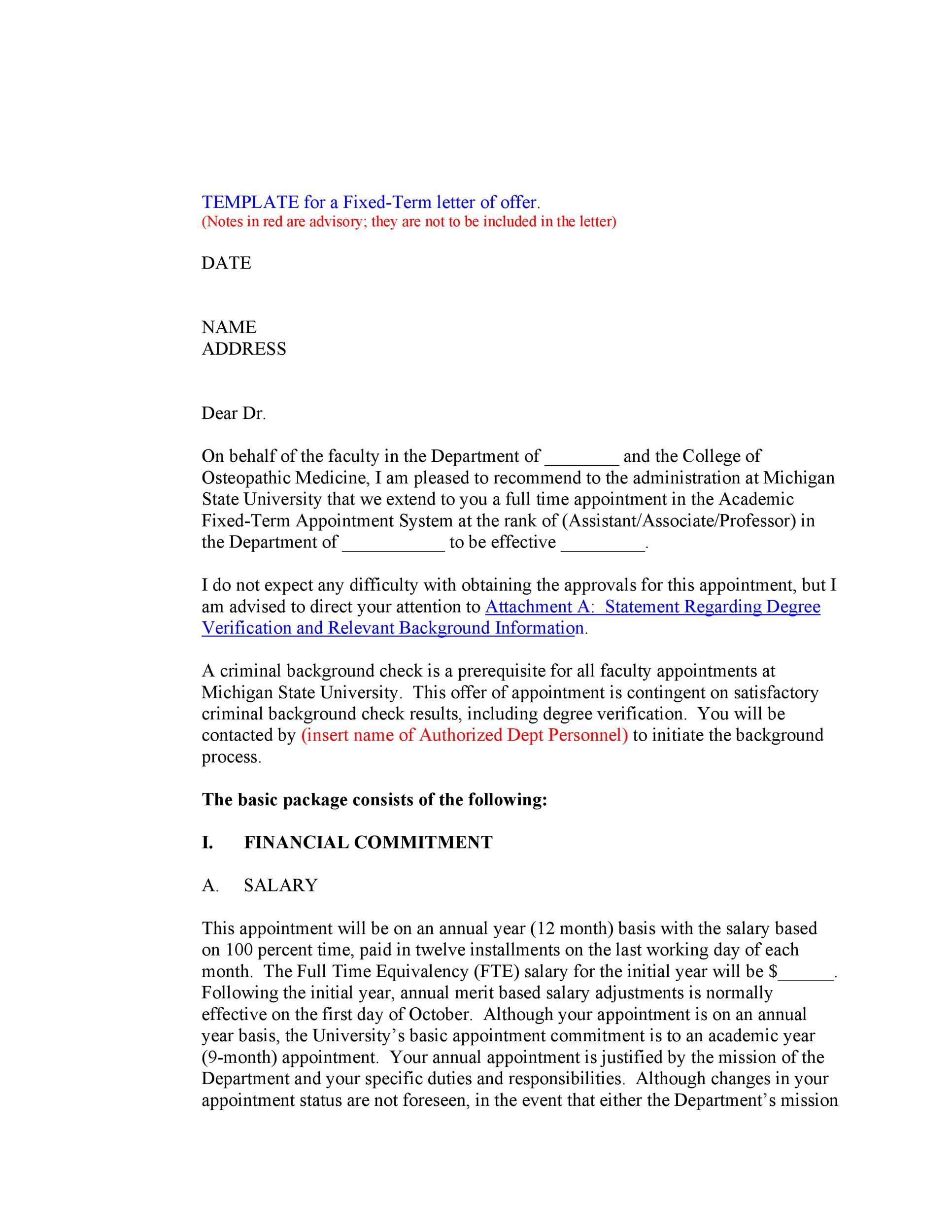 Free Offer letter 44