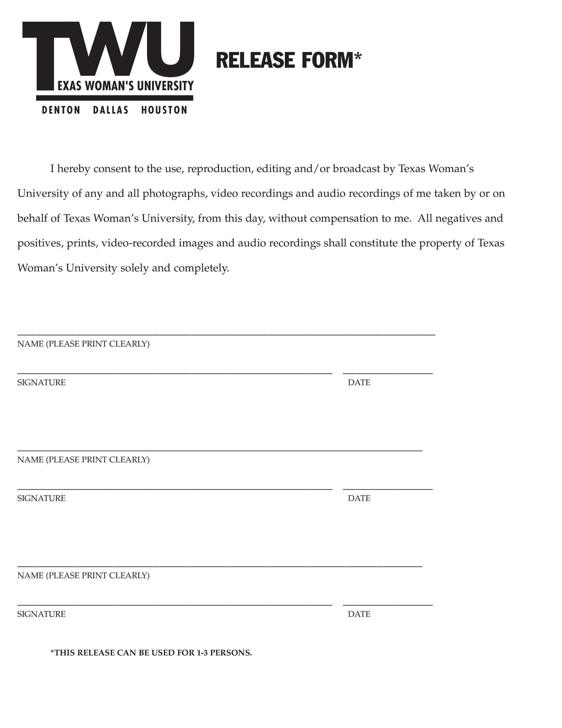 Lovely Printable Photo Release Form 10 Pertaining To Letter Of Release Form