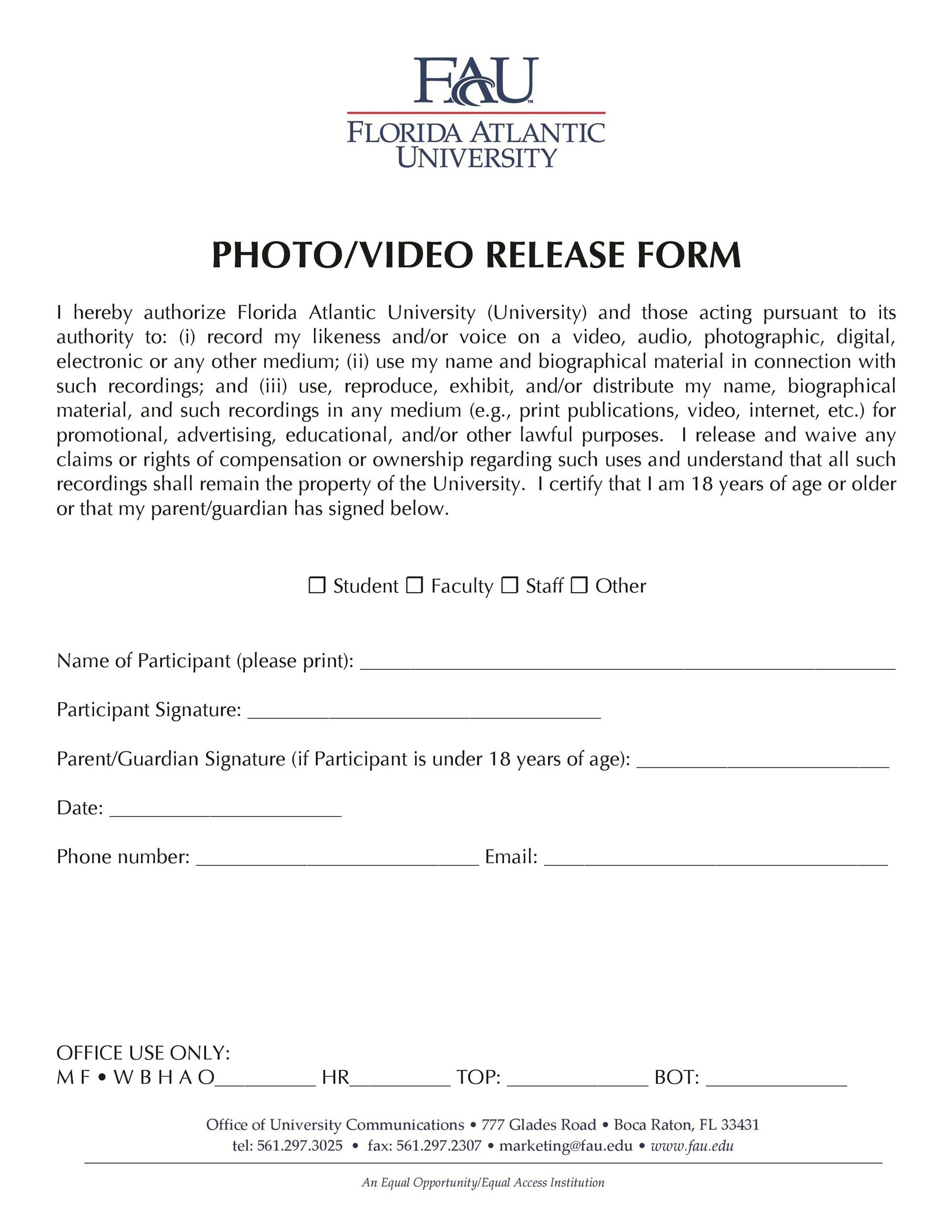 53 free photo release form templates word pdf template lab printable photo release form 16 alramifo Image collections
