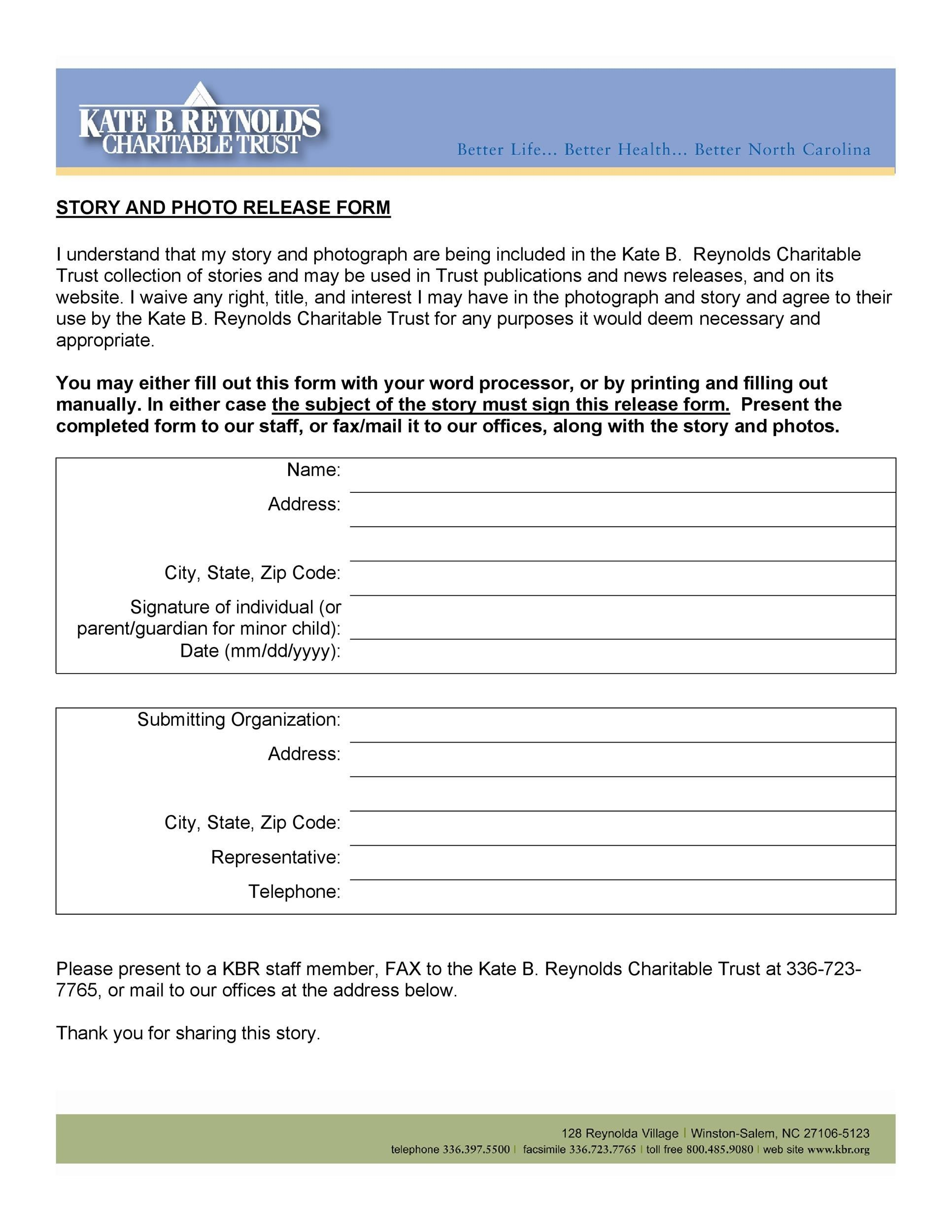 Printable Photo Release Form 35