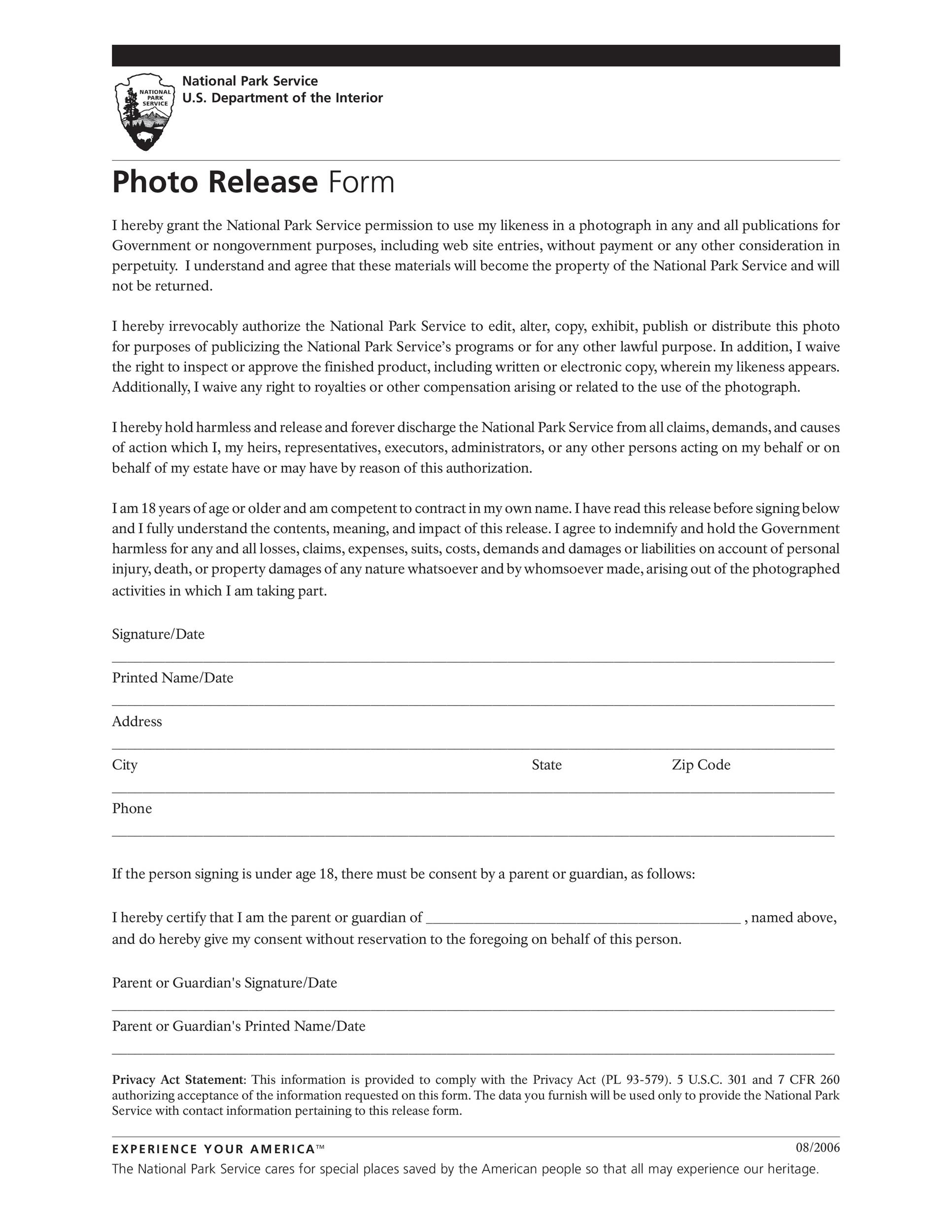 Free photo release form 37