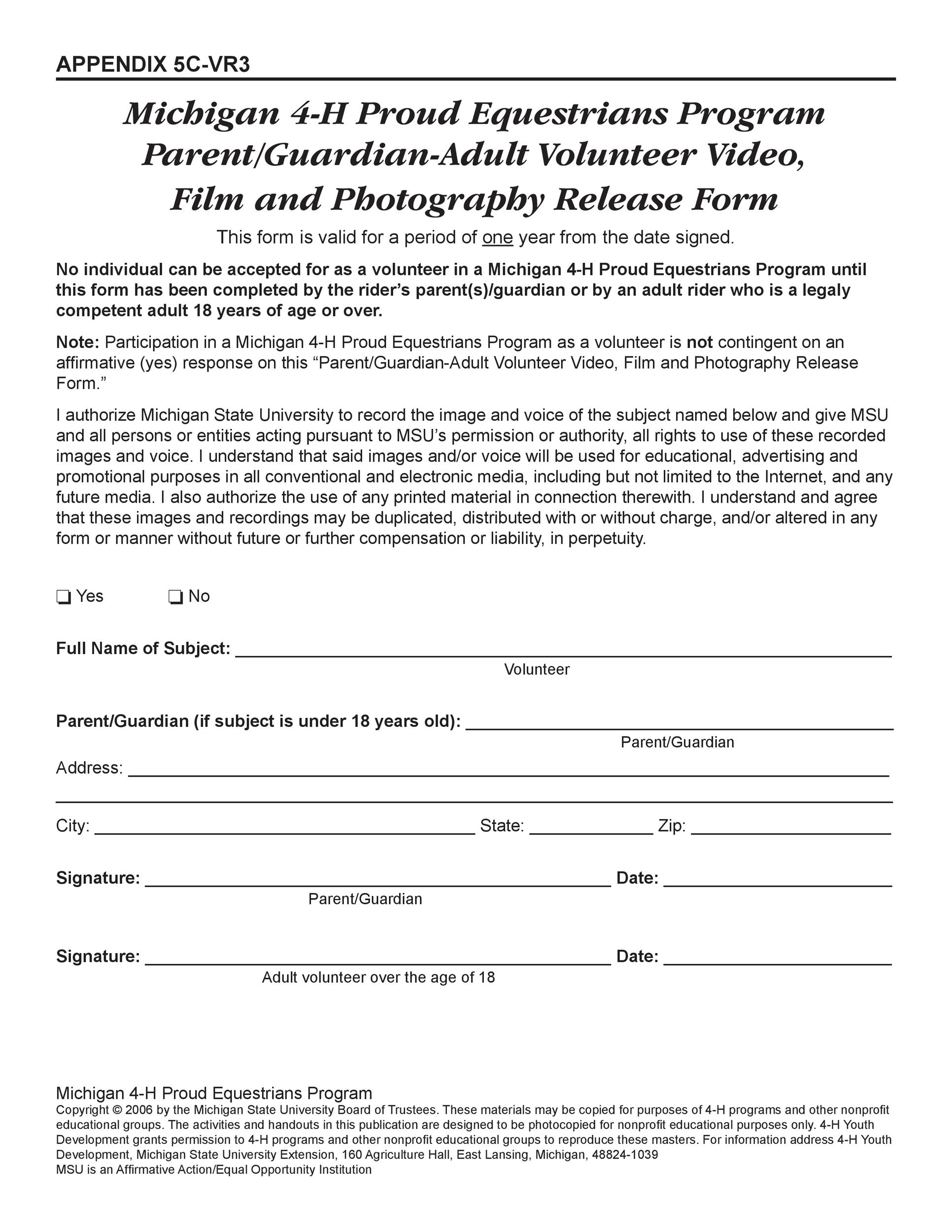 photo release forms 53 FREE Photo Release Form Templates [Word, PDF] - Template Lab
