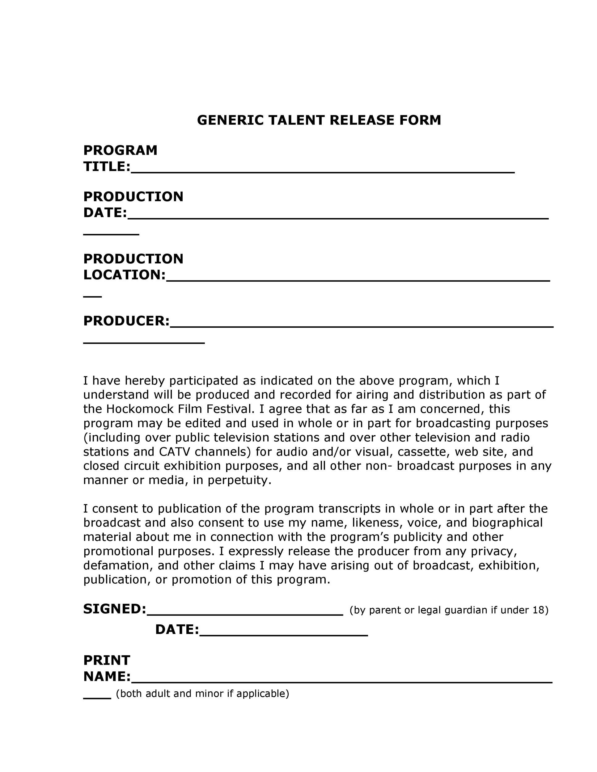 Unique photographer release form consent release form for Photography permission form template