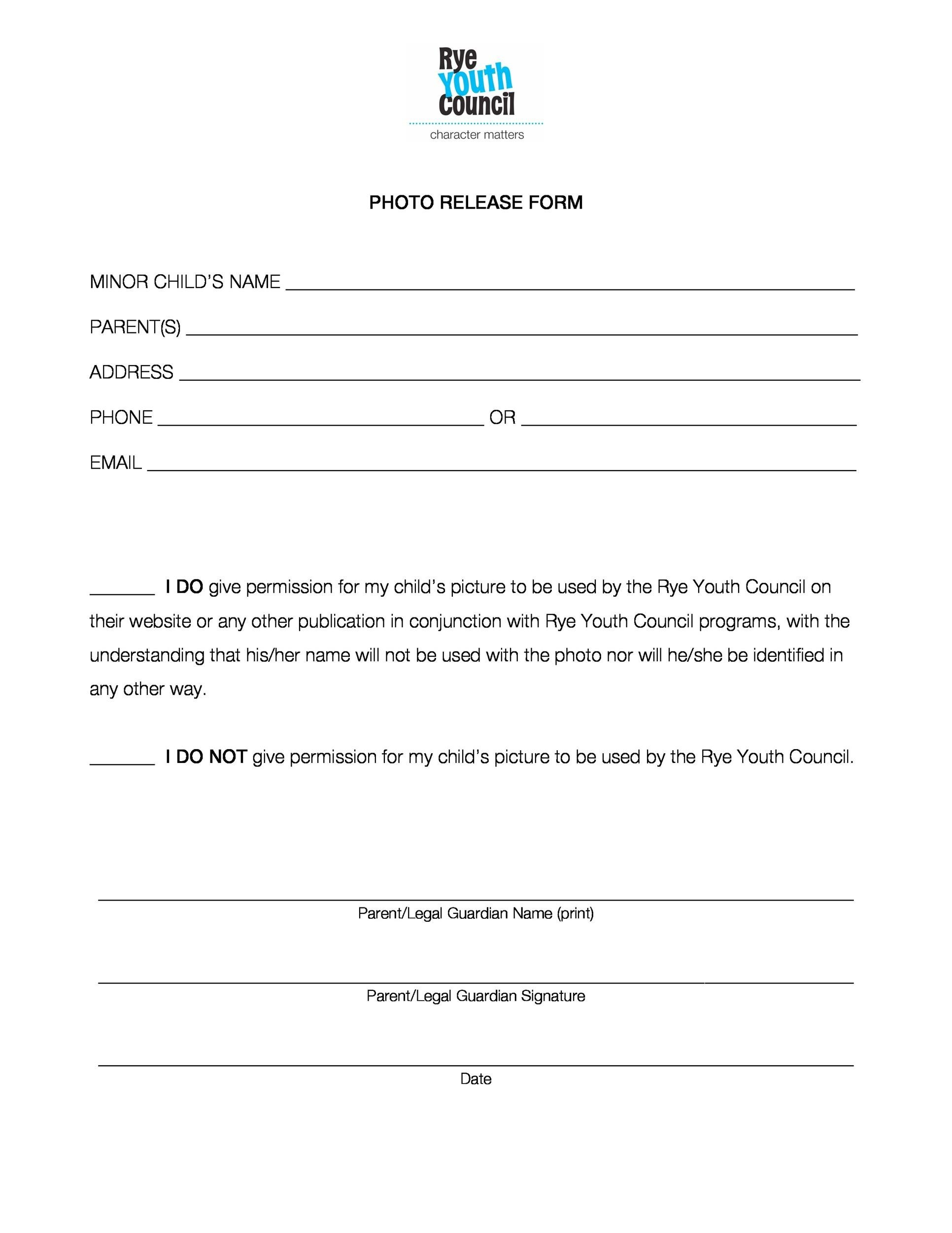 Free photo release form 47