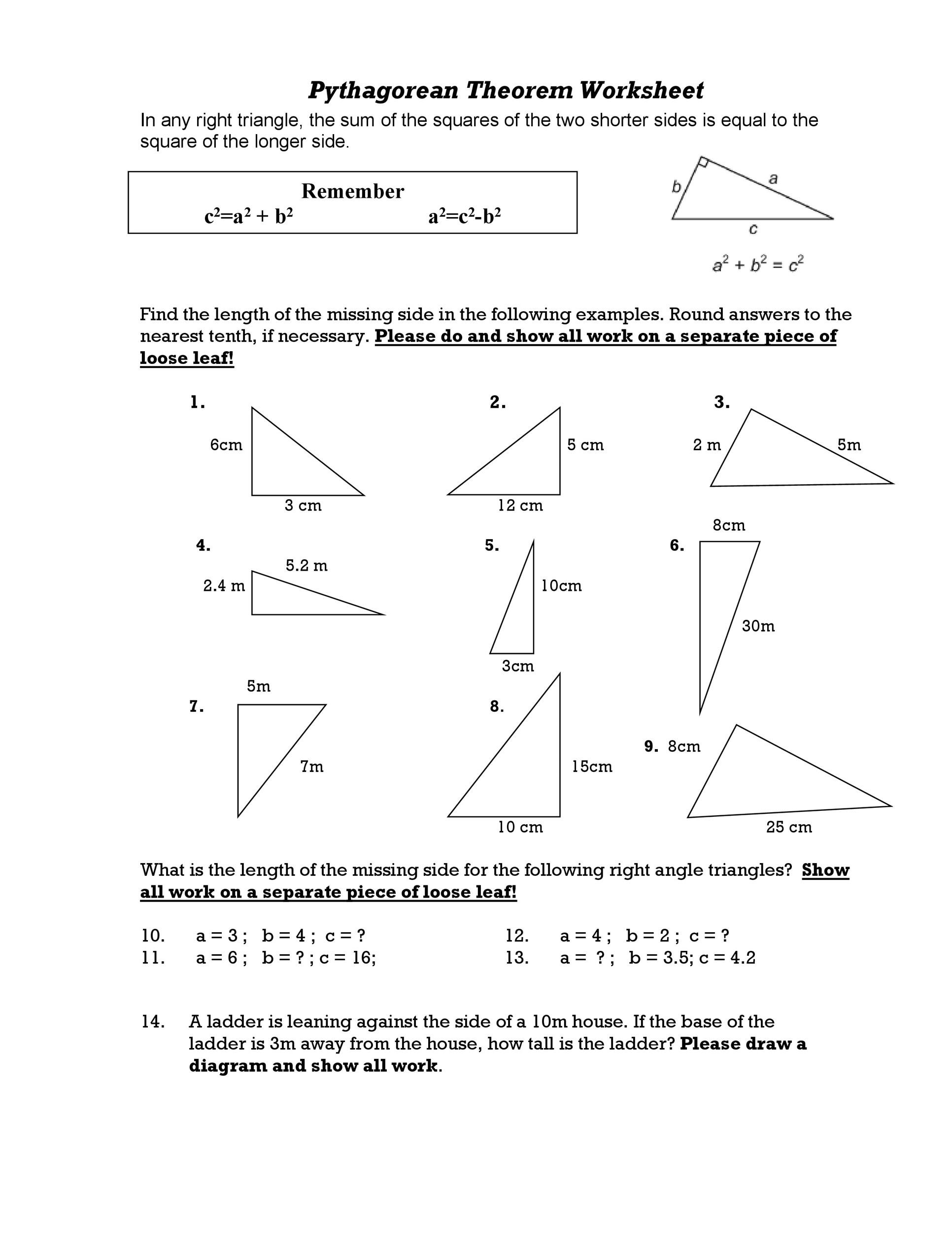 pythagorean theorem applications worksheet the best and most comprehensive worksheets. Black Bedroom Furniture Sets. Home Design Ideas